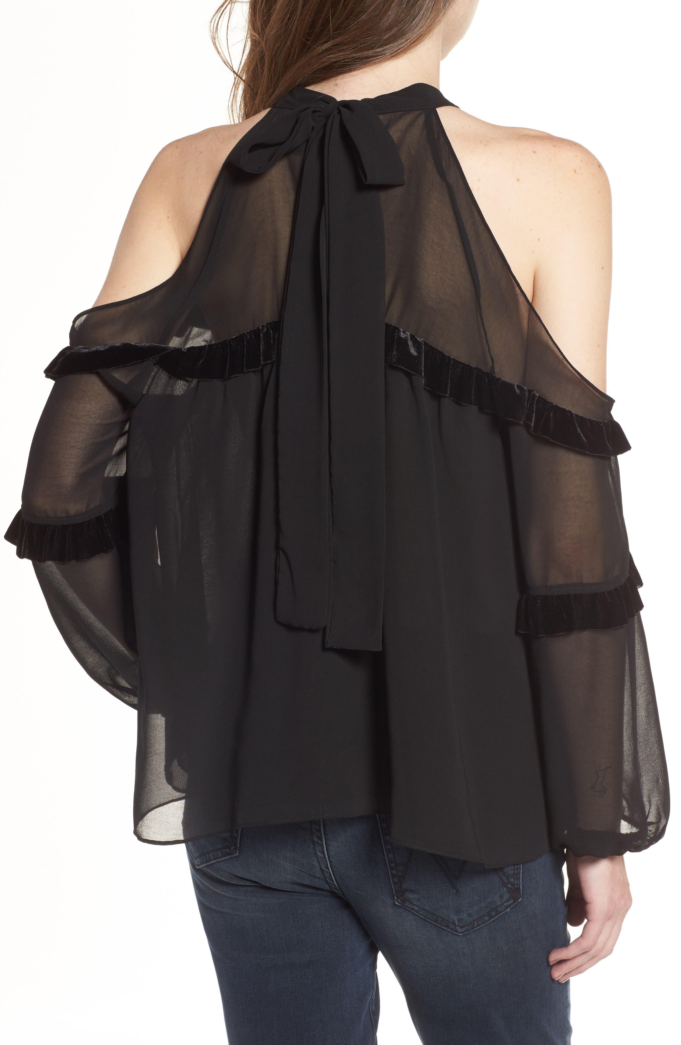 Alternate Image 2  - MISA Los Angeles Pippa Cold Shoulder Top