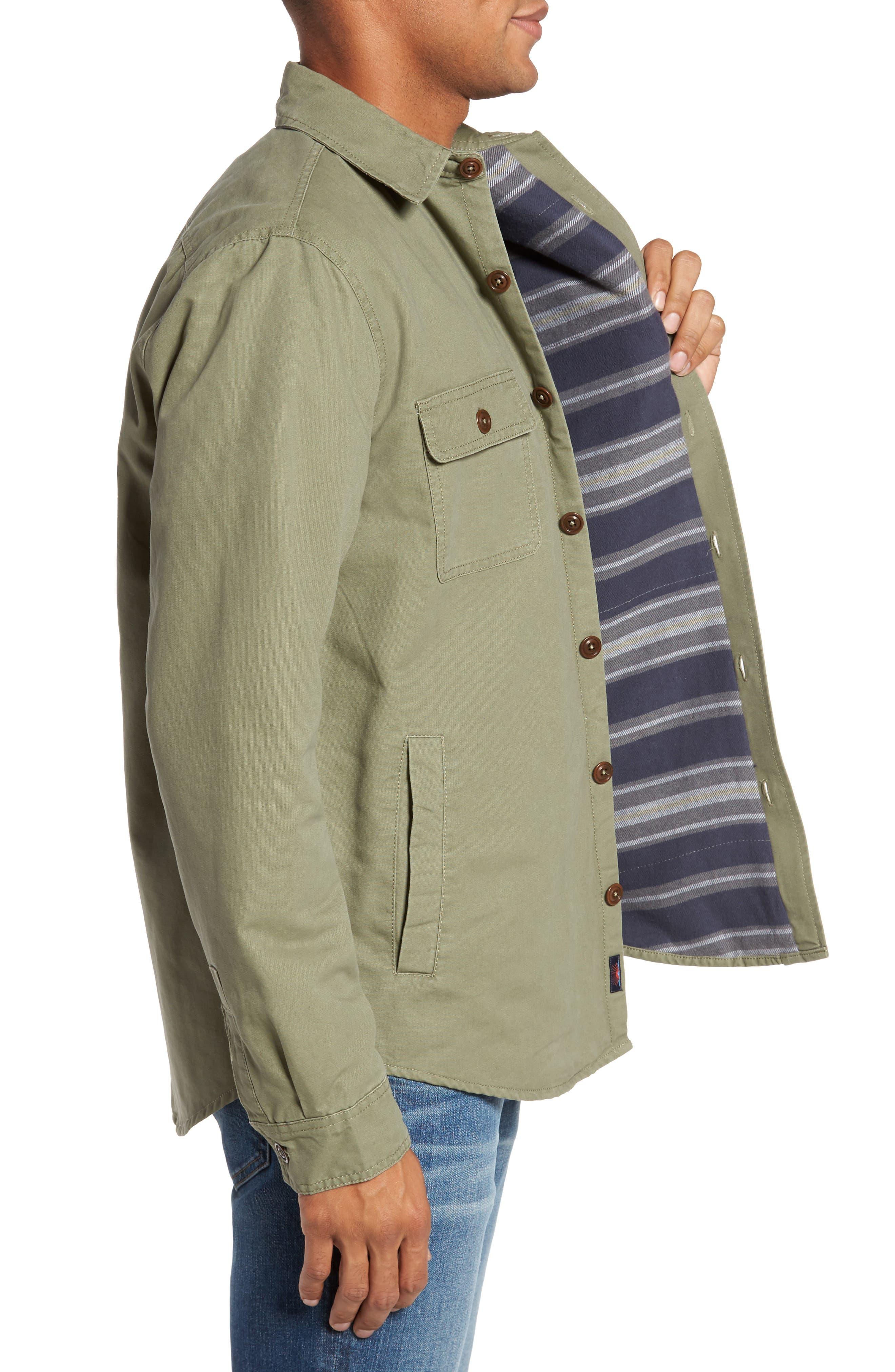 Alternate Image 3  - Faherty Blanket Lined Shirt Jacket
