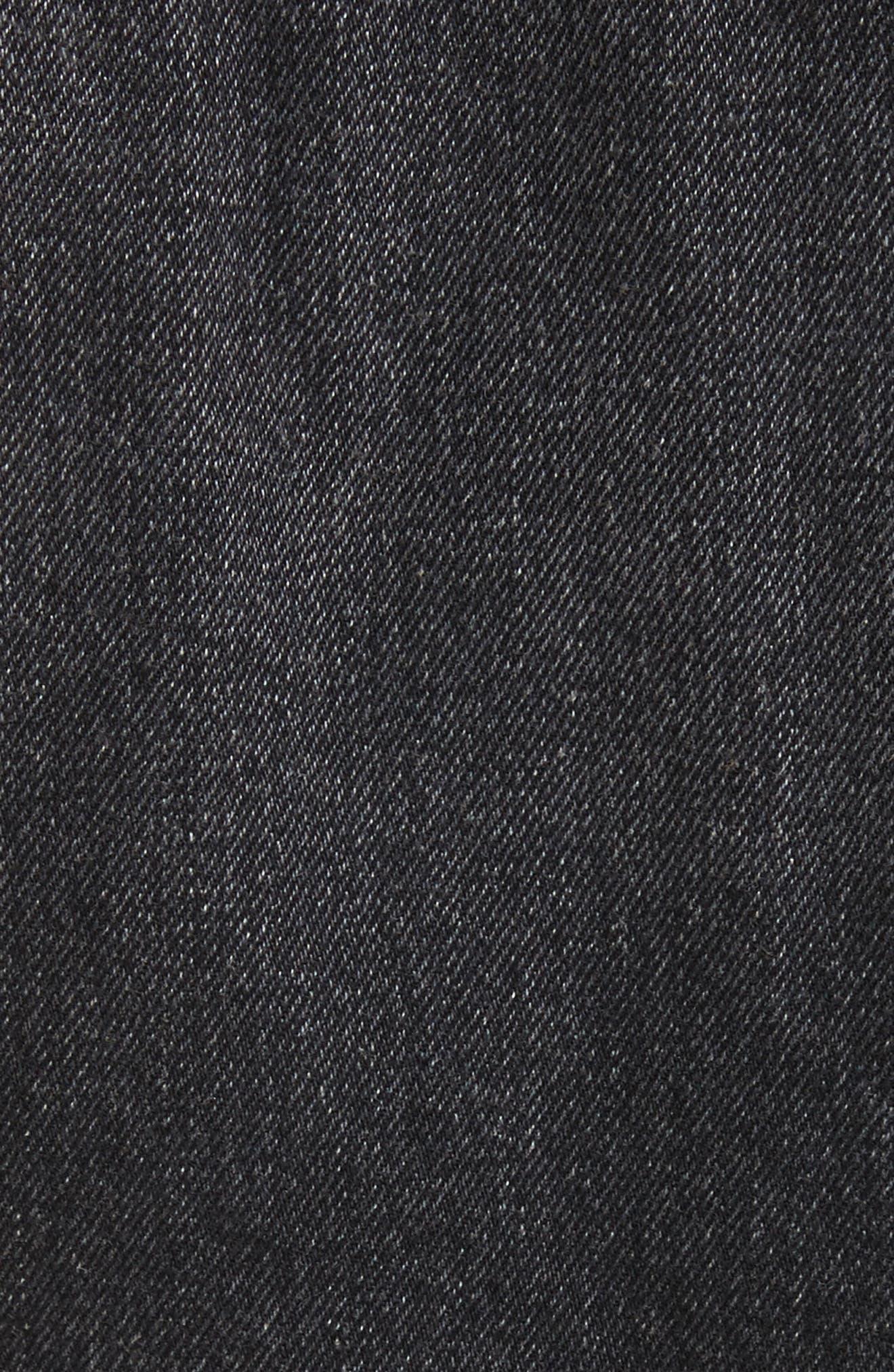 Denim x Alexander Wang Shrunken Jean Jacket,                             Alternate thumbnail 5, color,                             Grey Aged