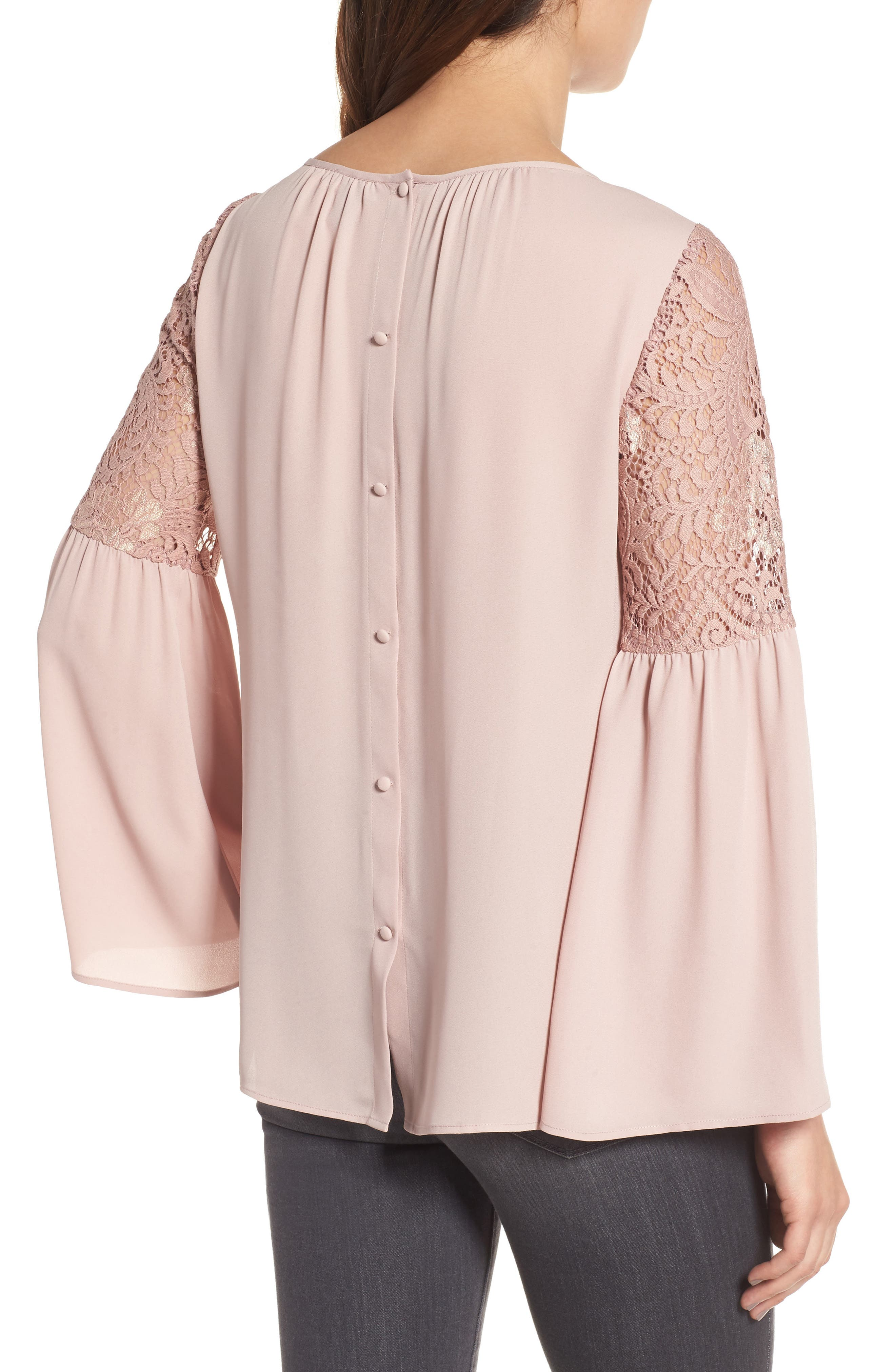 Alternate Image 2  - Chelsea28 Lace Bell Sleeve Top