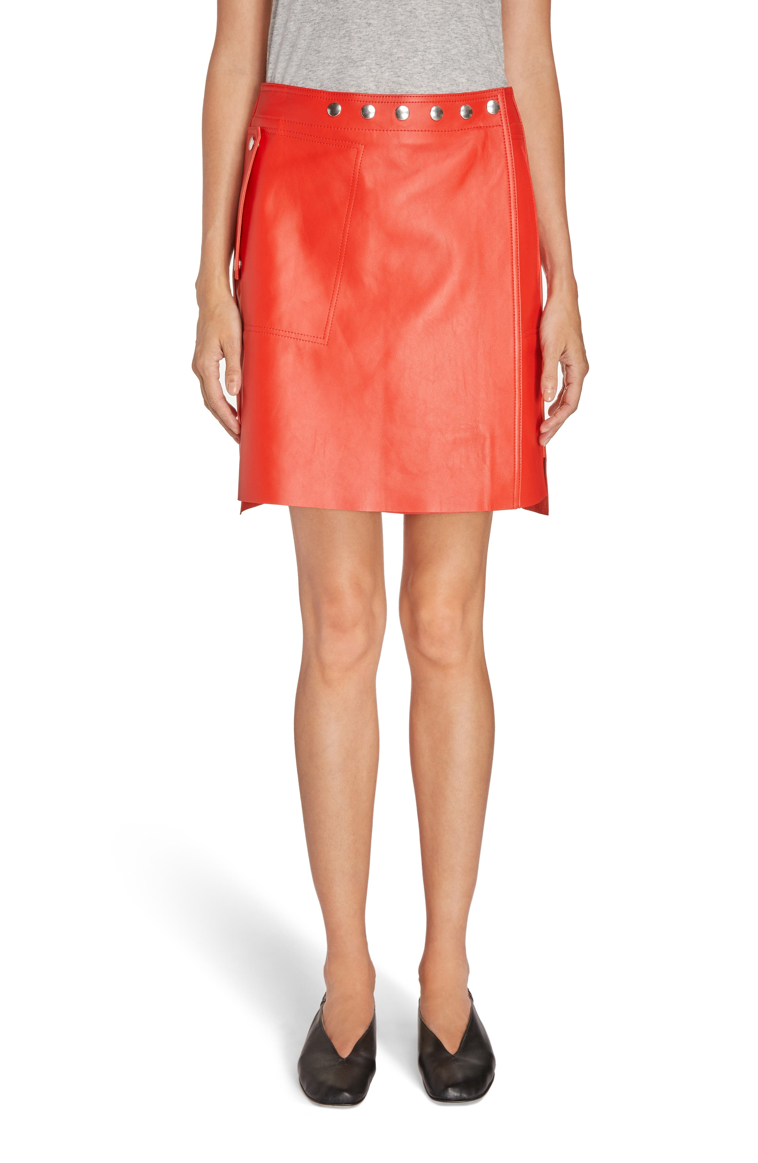 Acne Studios Shirin Leather Miniskirt