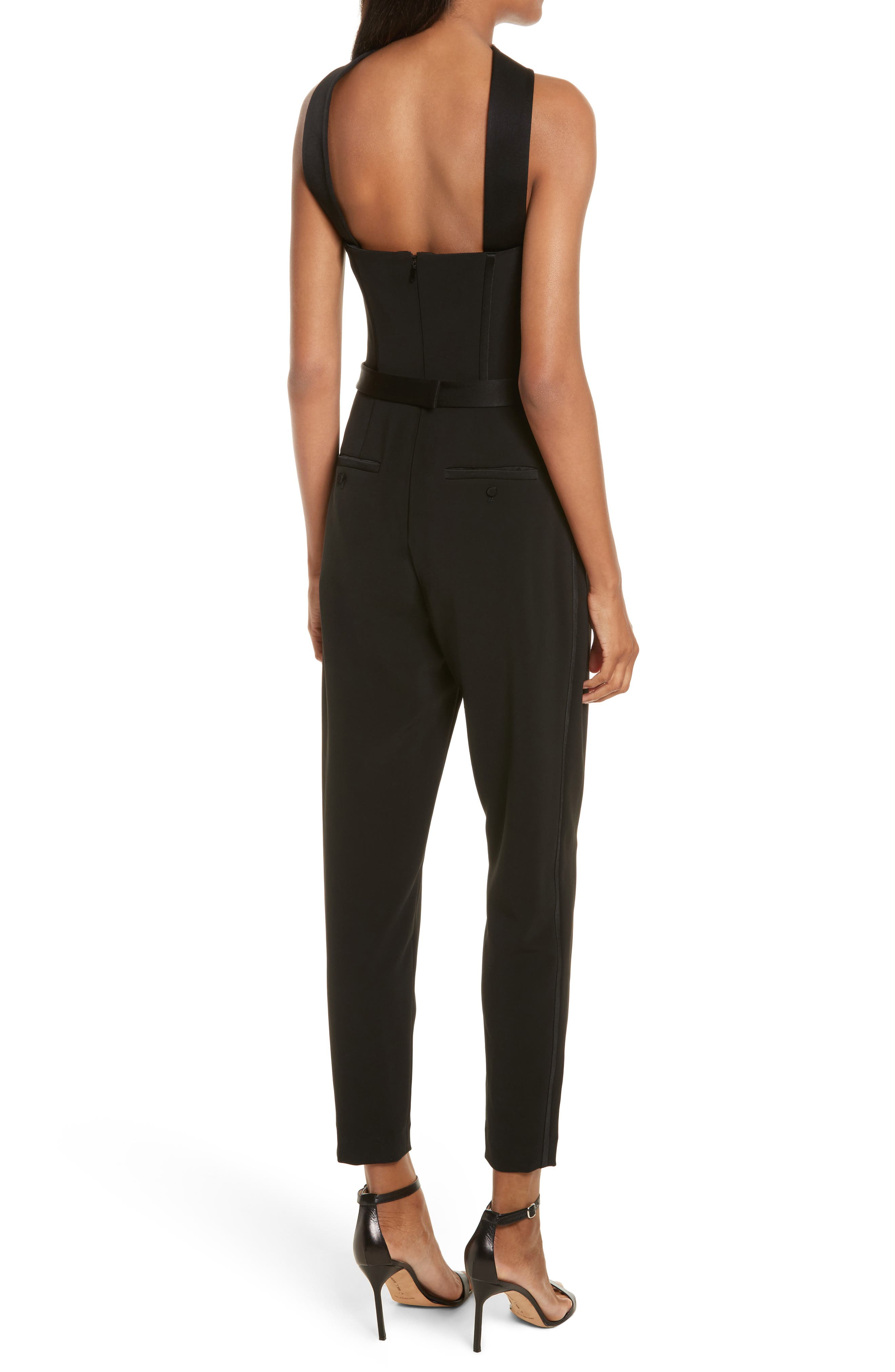 Diane Kruger x GREY Jason Wu Crepe Straight Leg Jumpsuit,                             Alternate thumbnail 2, color,                             Black