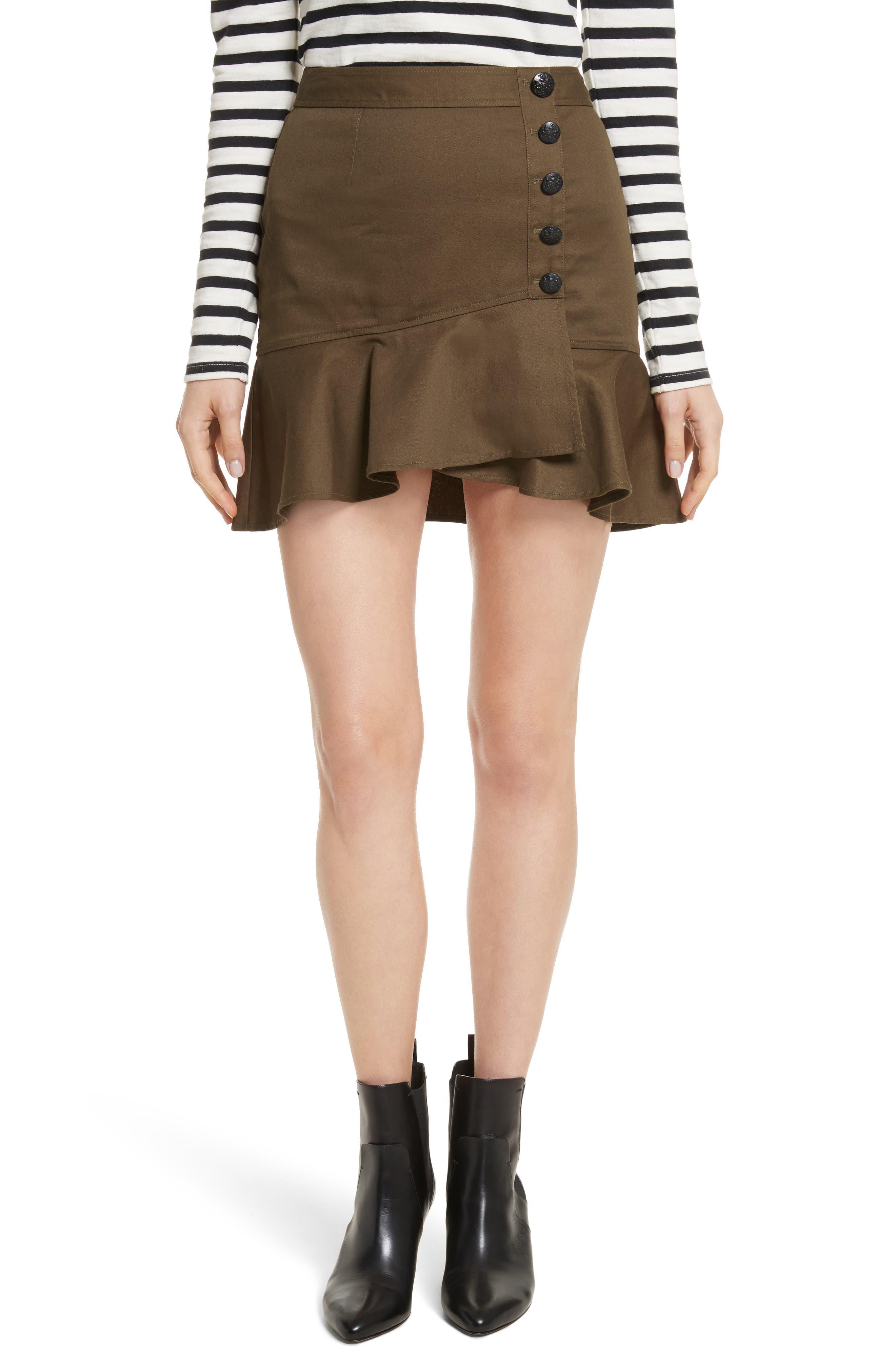 Claremont Flounce Skirt,                         Main,                         color, Army