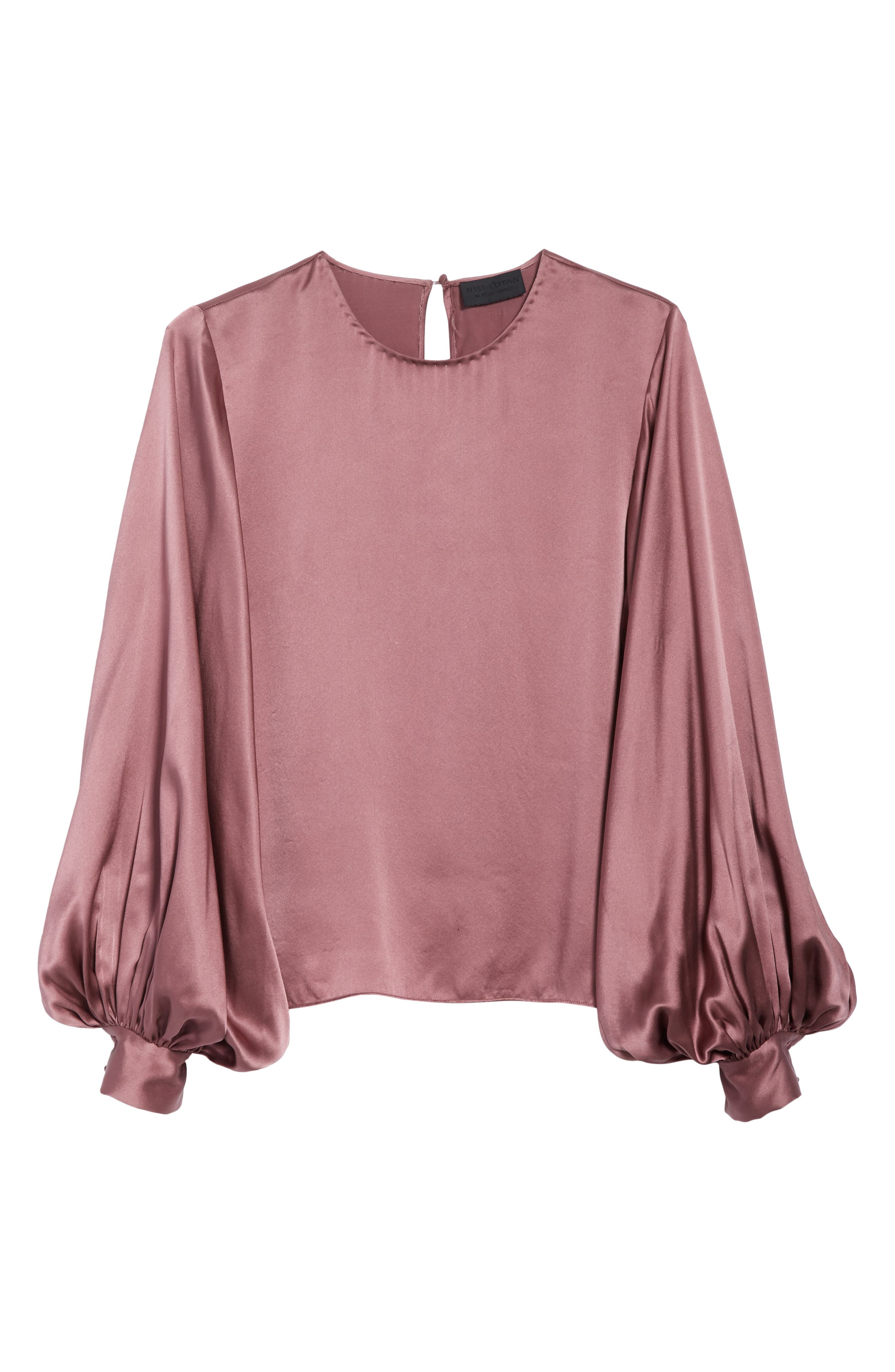 Alternate Image 6  - Nili Lotan Loretta Silk Puff Sleeve Blouse