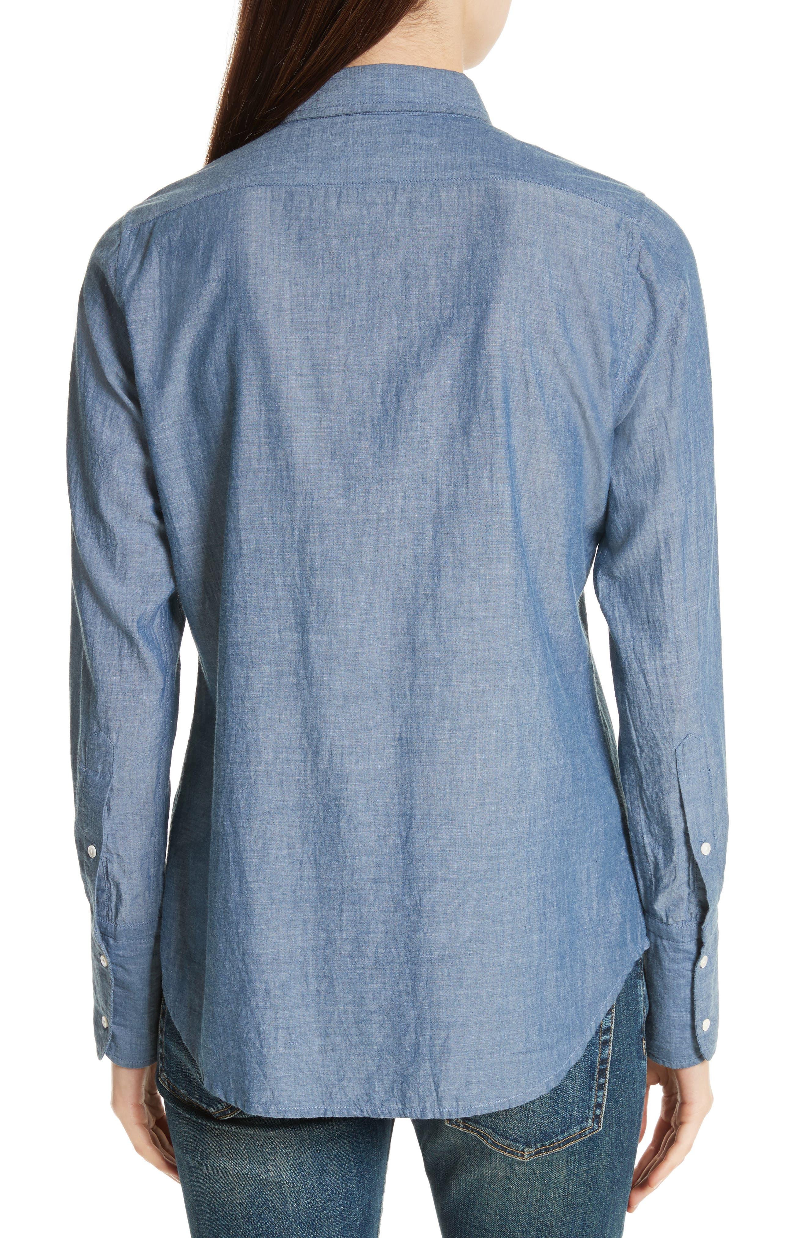 Chambray Shirt,                             Alternate thumbnail 2, color,                             Indigo Chambray