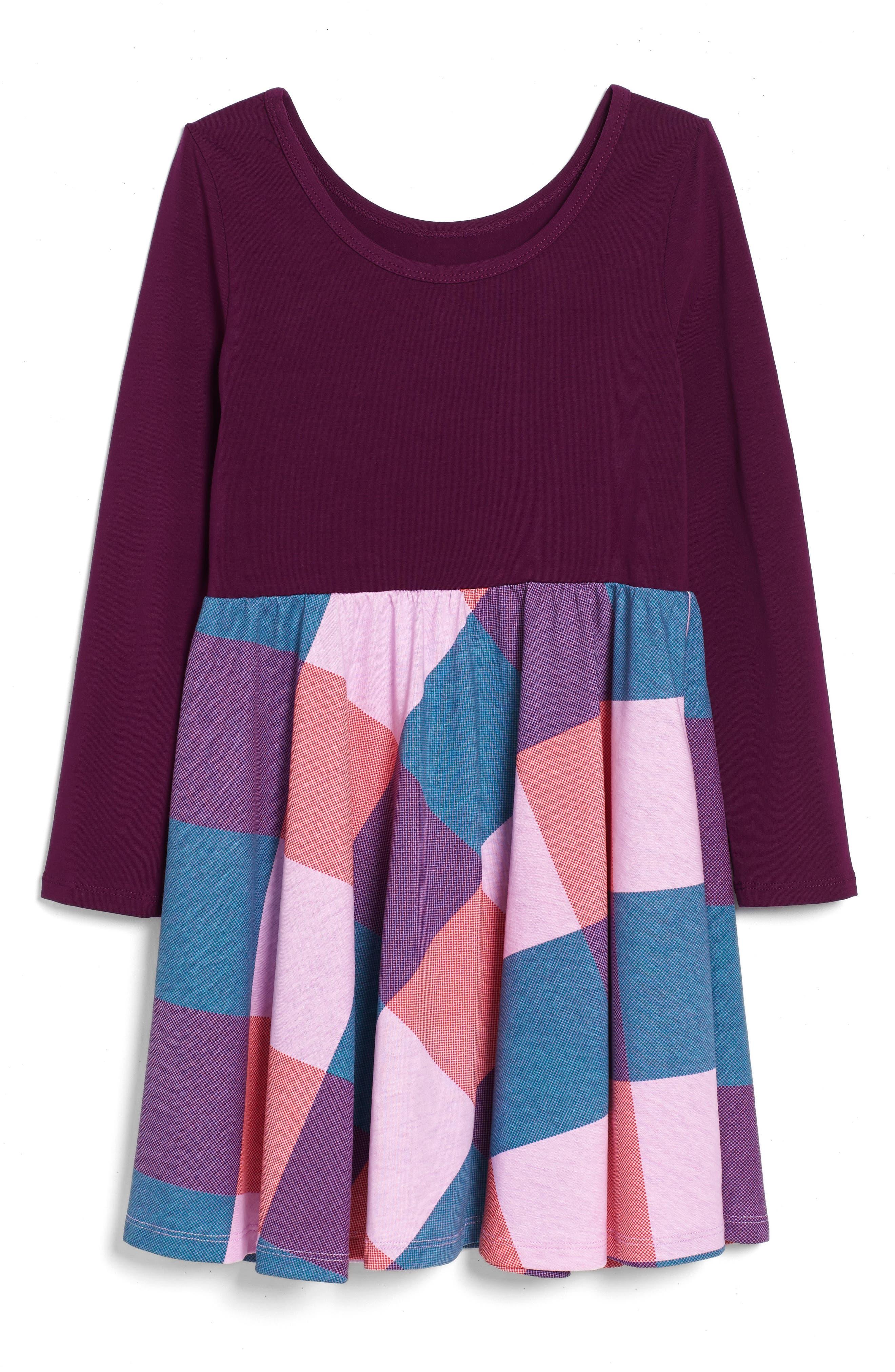 Alternate Image 2  - Tea Collection Dahlia Skirted Dress (Toddler Girls, Little Girls & Big Girls)
