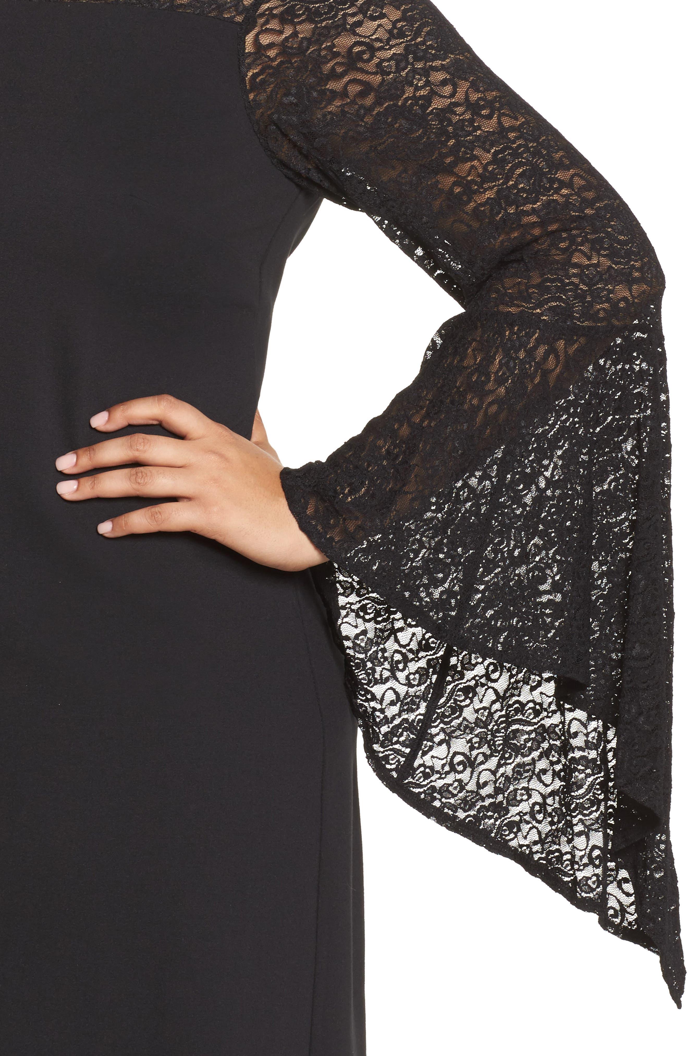 Alternate Image 4  - Vince Camuto Bell Sleeve Shift Dress (Plus Size)
