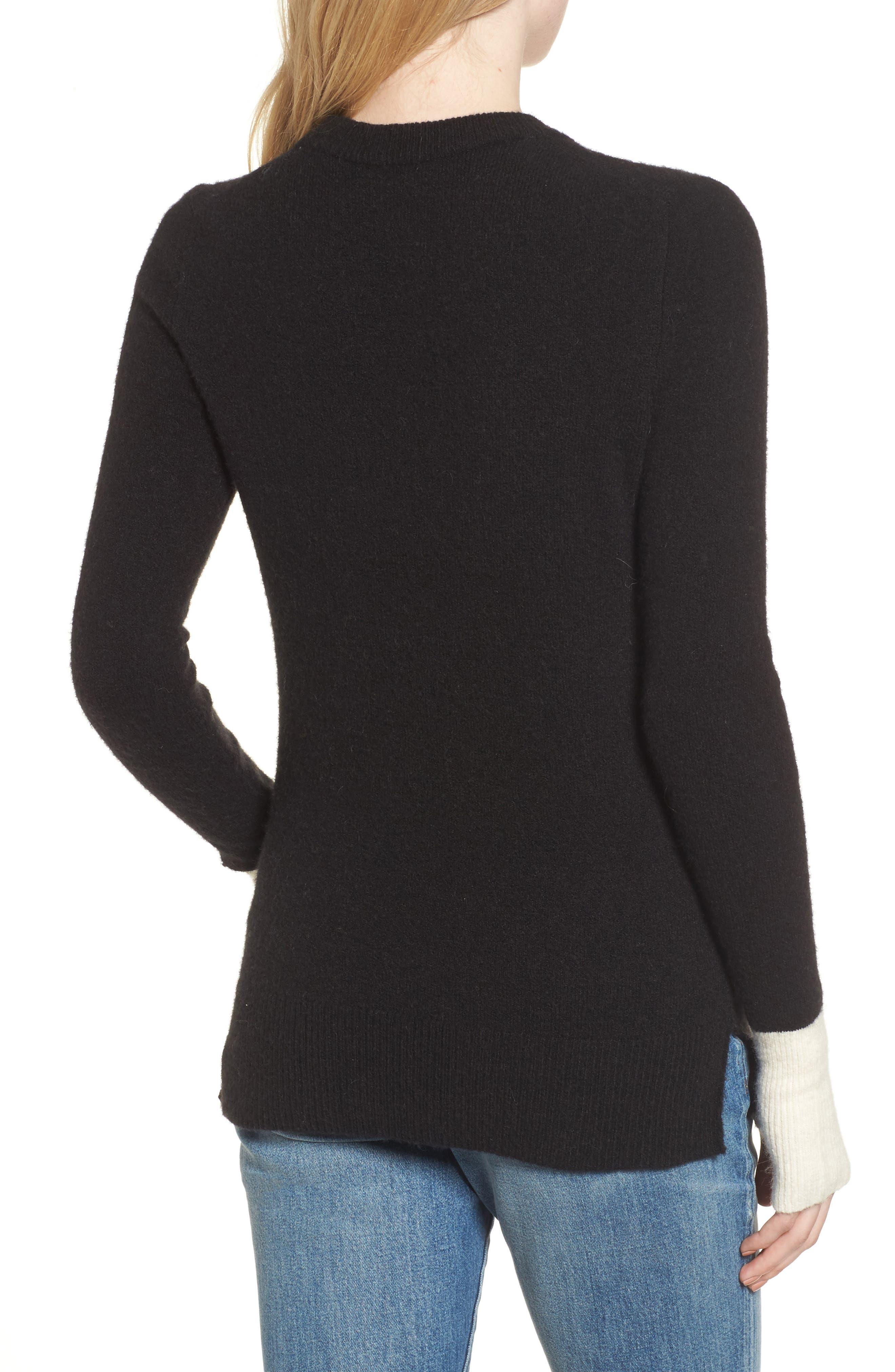 Fremont Colorblock Pullover Sweater,                             Alternate thumbnail 3, color,                             True Black