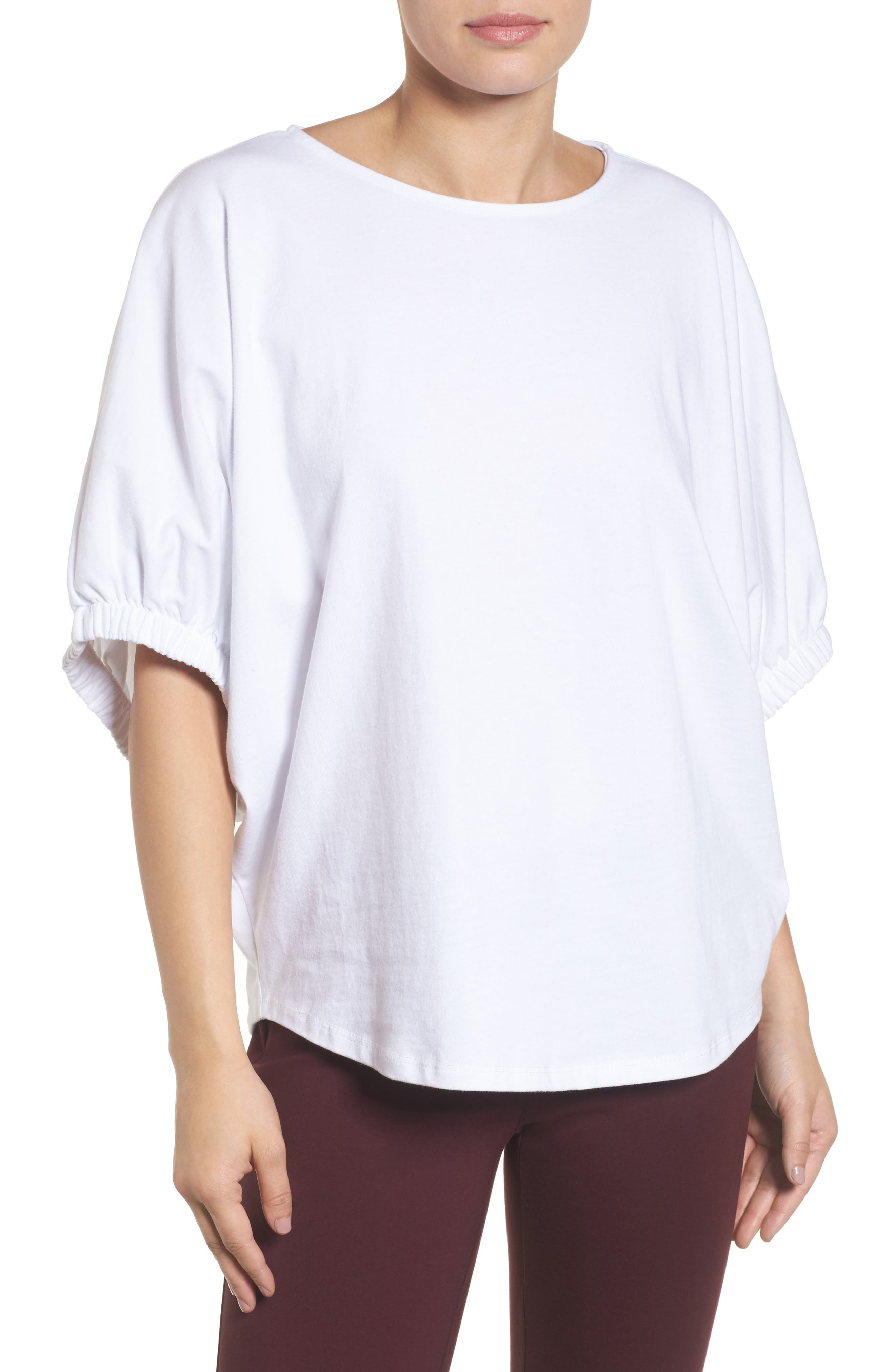 Dolman Sleeve Top,                         Main,                         color, White
