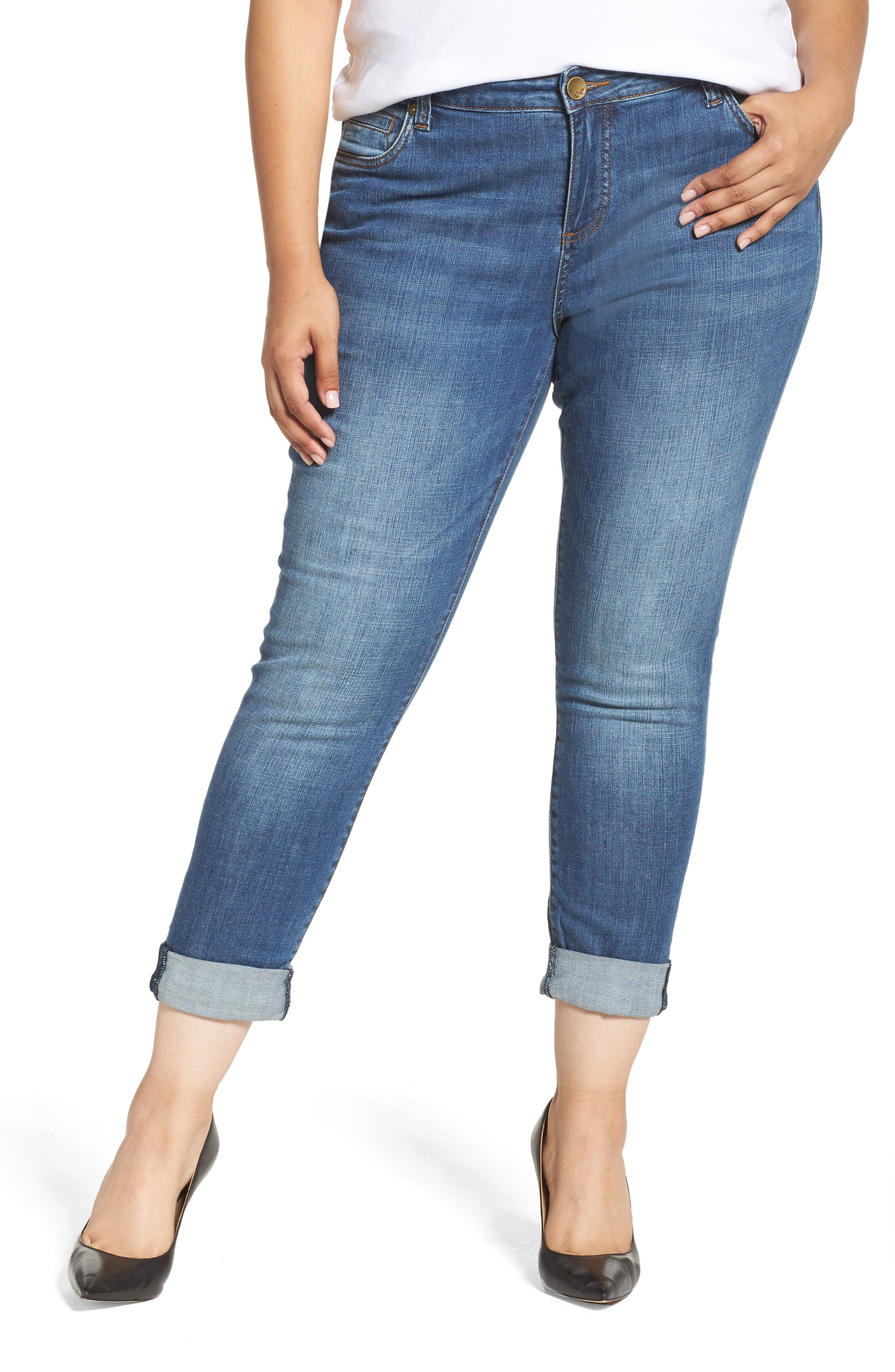 Alternate Image 1 Selected - KUT from the Kloth Catherine Boyfriend Jeans (Fervent) (Plus Size)