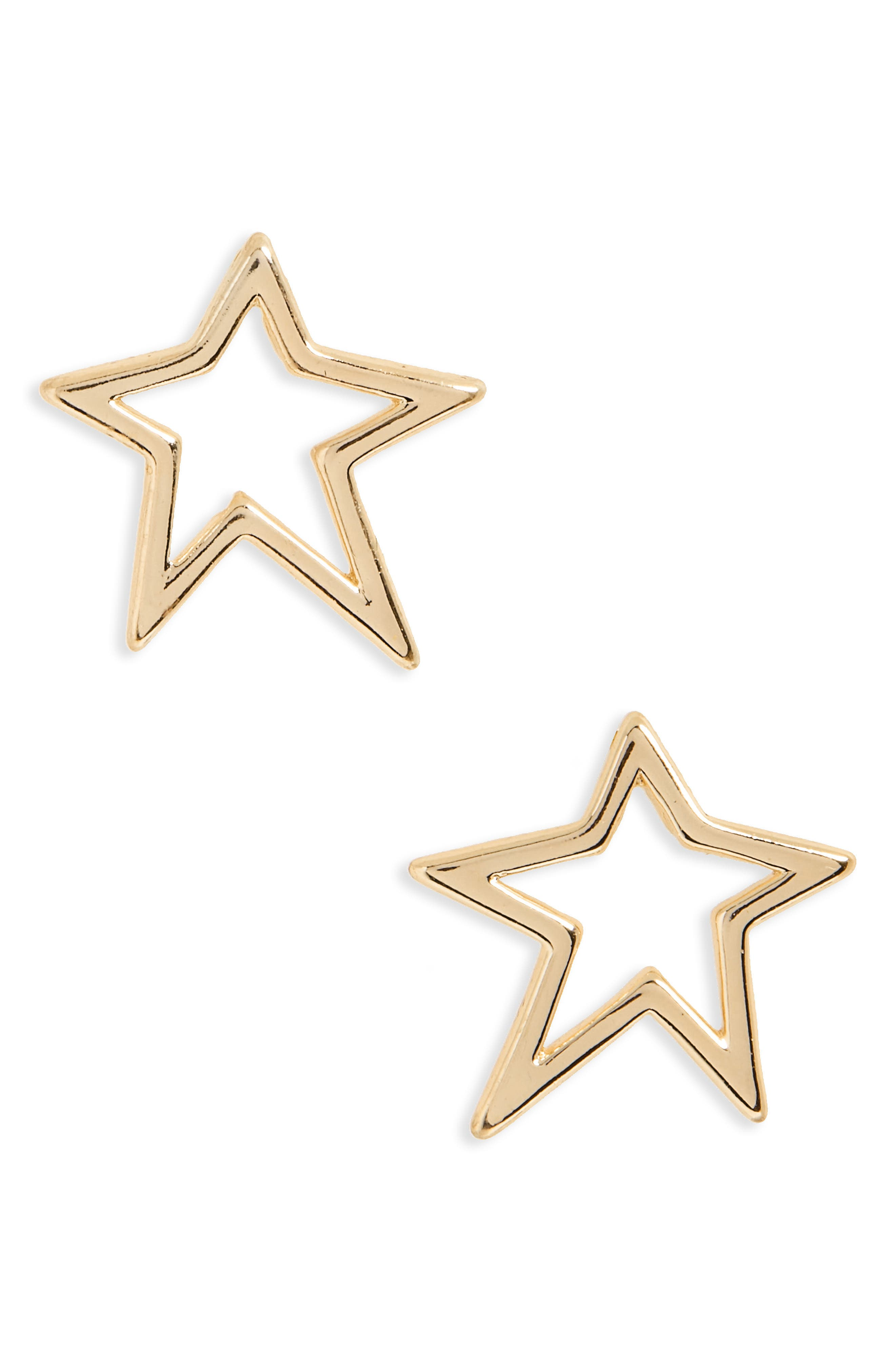 Star Stud Earrings,                         Main,                         color, Gold