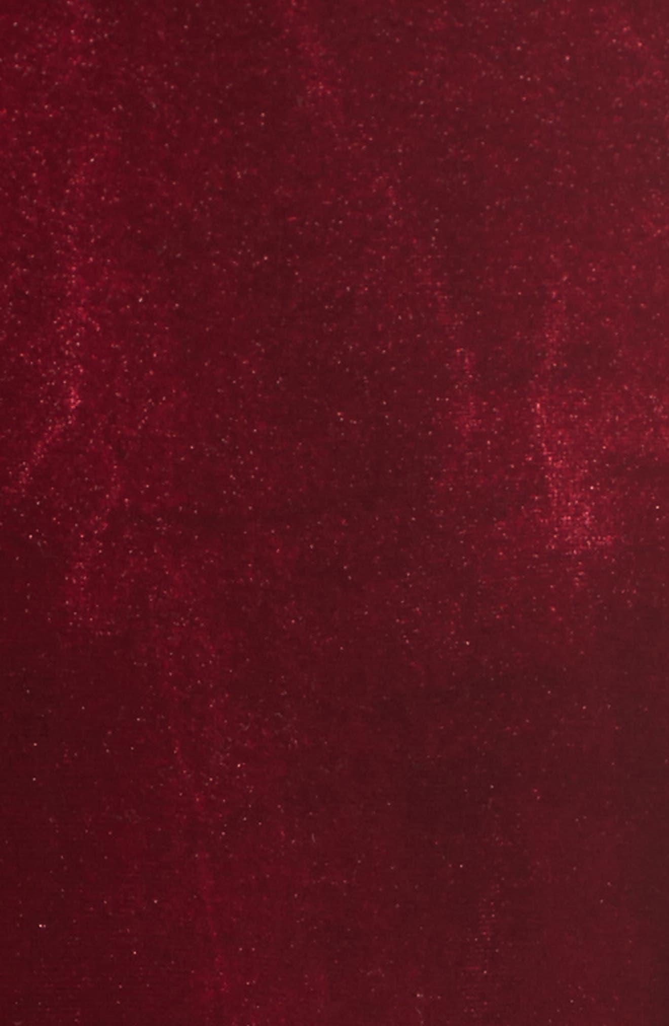 Reach Out Velvet Maxi Dress,                             Alternate thumbnail 5, color,                             Burgundy