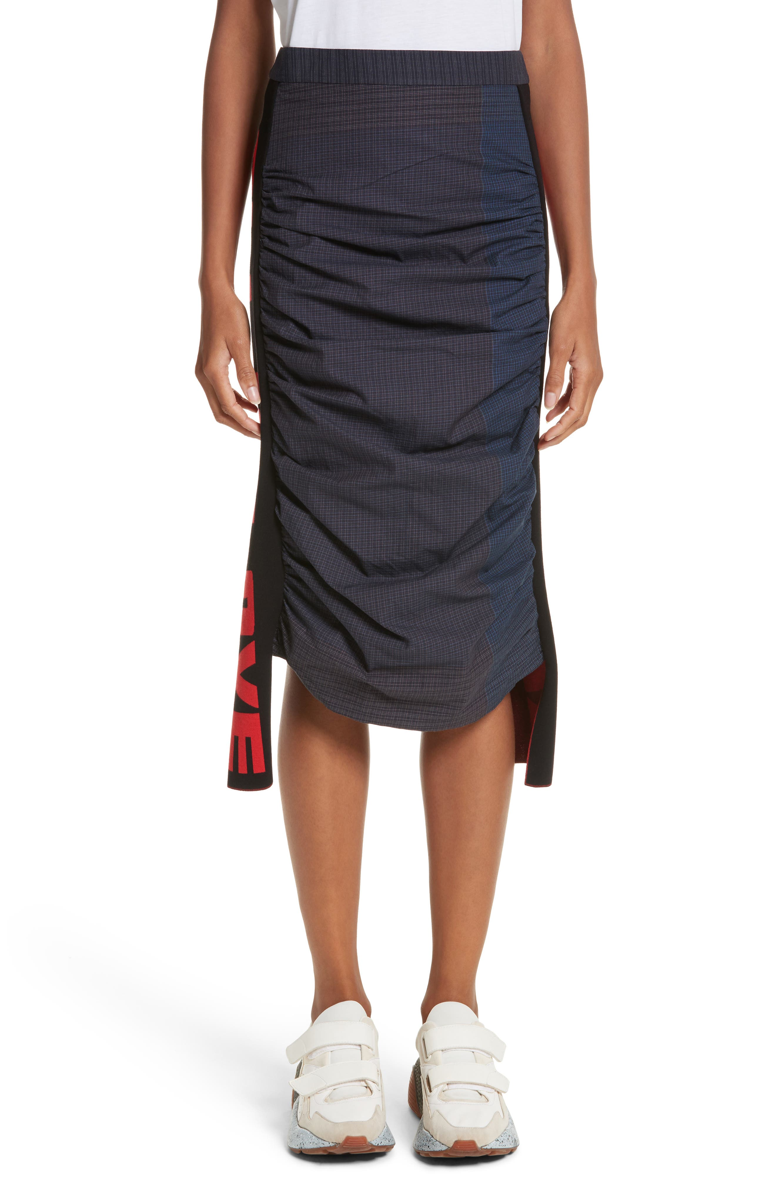All Is Love Ruched Skirt,                         Main,                         color, Ink