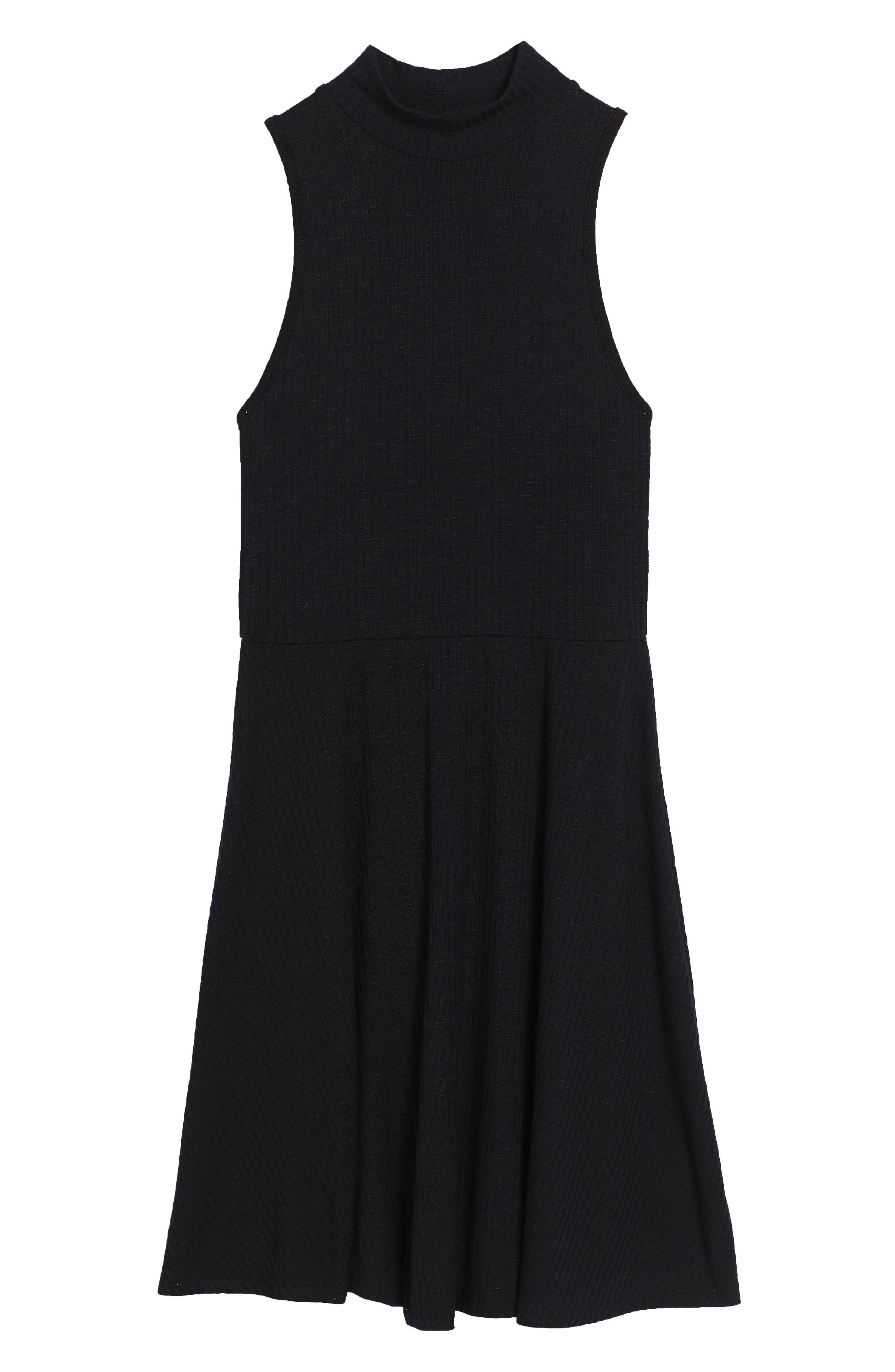 Tucker + Tate Ribbed Mock Neck Dress (Big Girls)