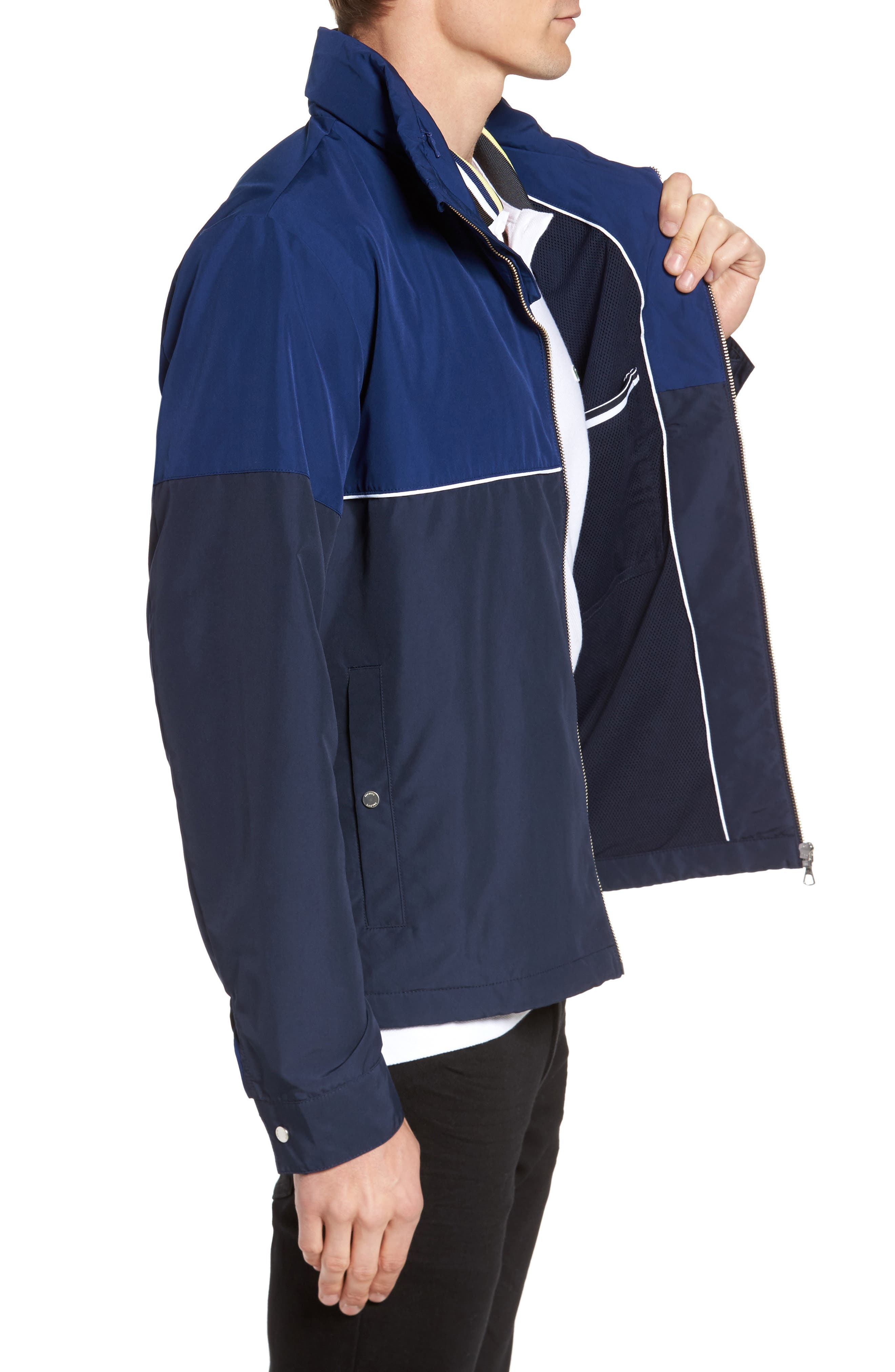 Alternate Image 4  - Lacoste Water Resistant Hooded Parka