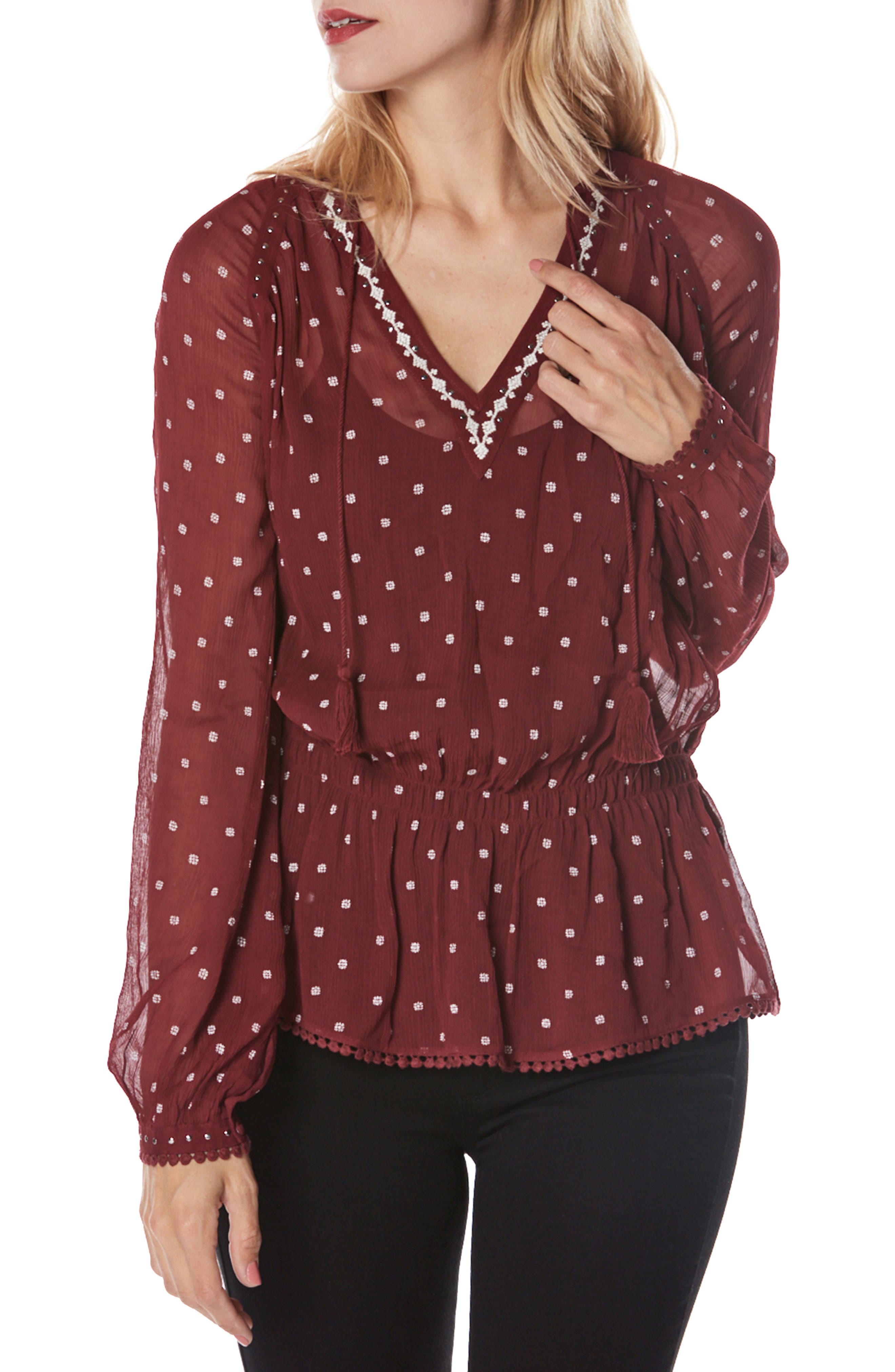 PAIGE Truly Embroidered Georgette Blouse
