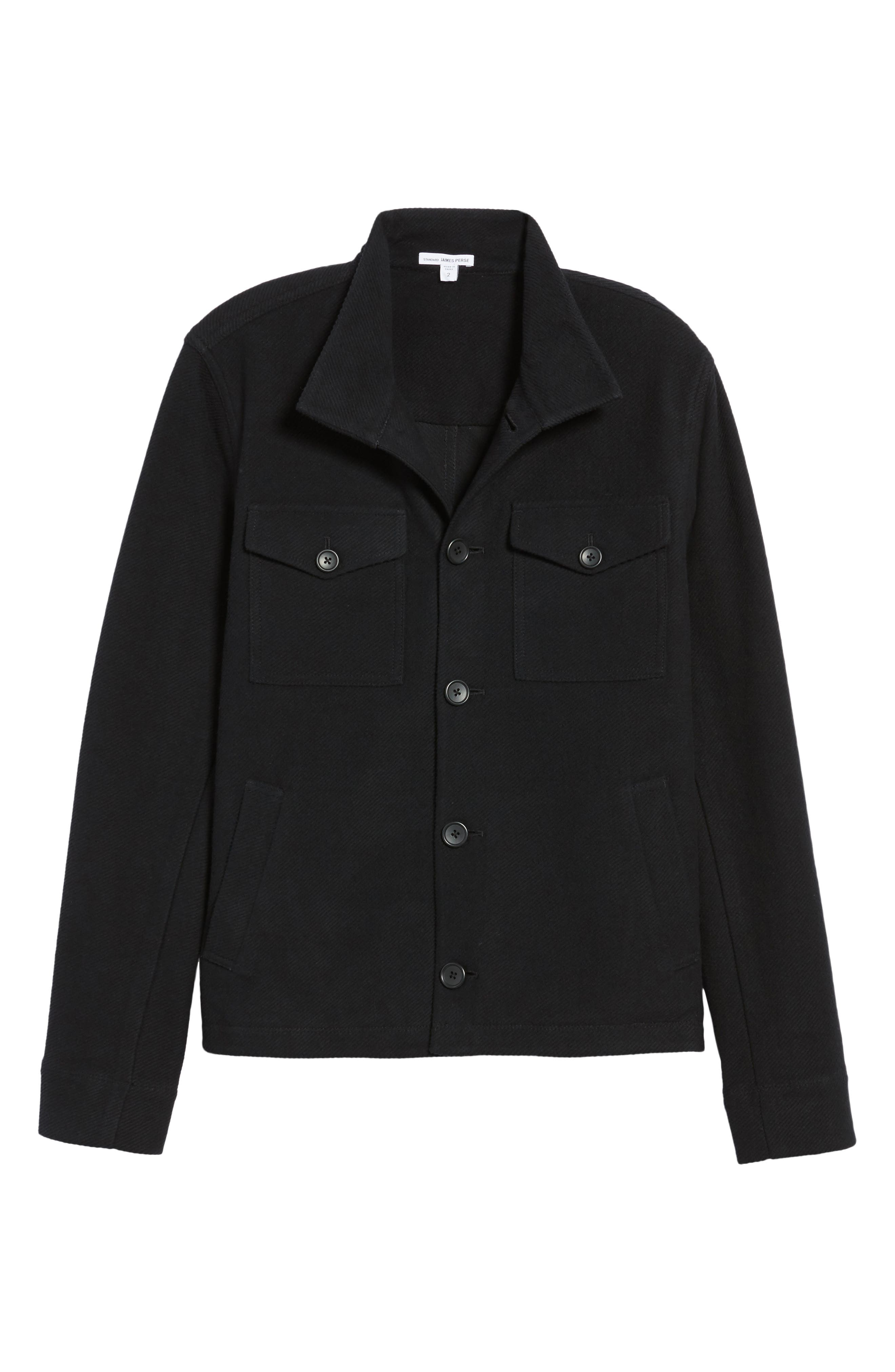 Alternate Image 6  - James Perse Drill Button Front Knit Jacket
