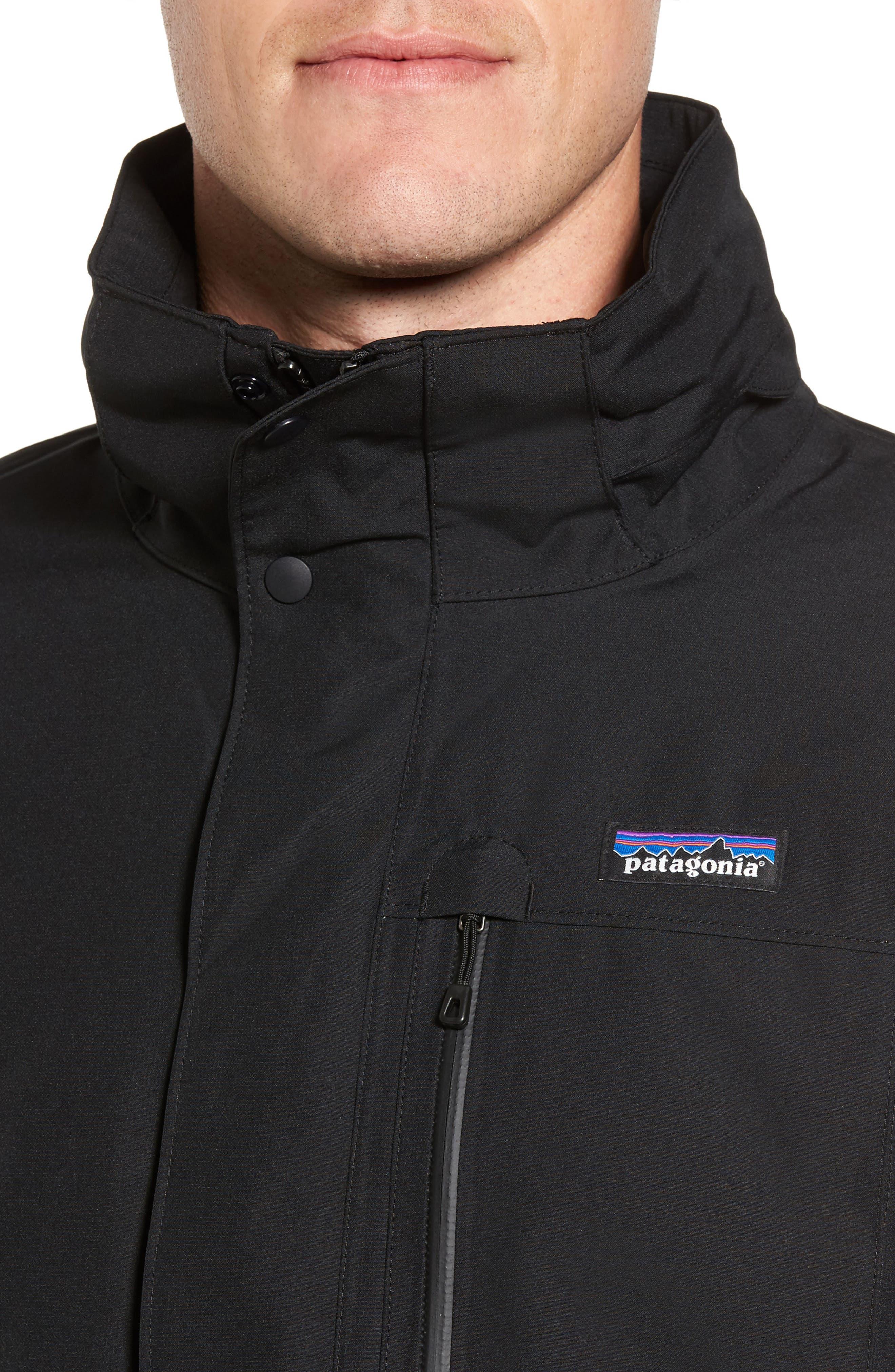 Topley Waterproof Down Jacket,                             Alternate thumbnail 4, color,                             Black