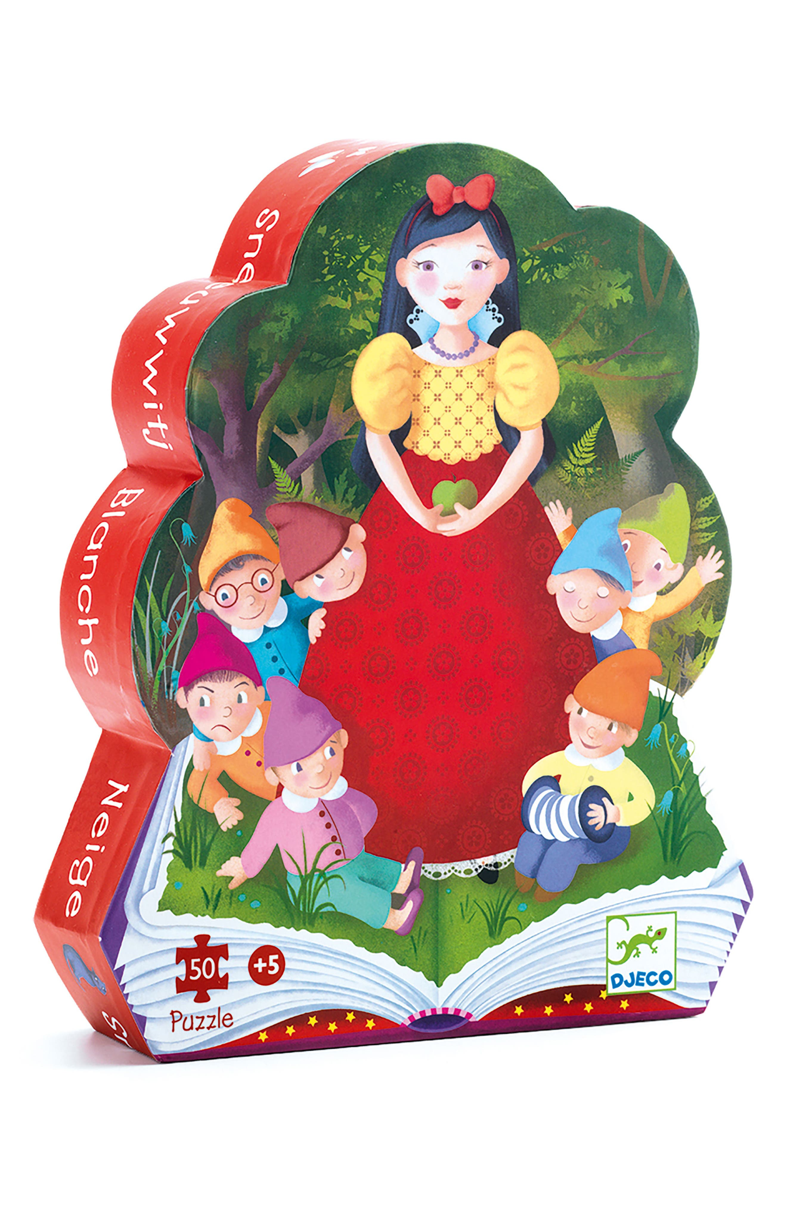 Silhouette Puzzles Snow White 50-Piece Puzzle,                         Main,                         color, Multi