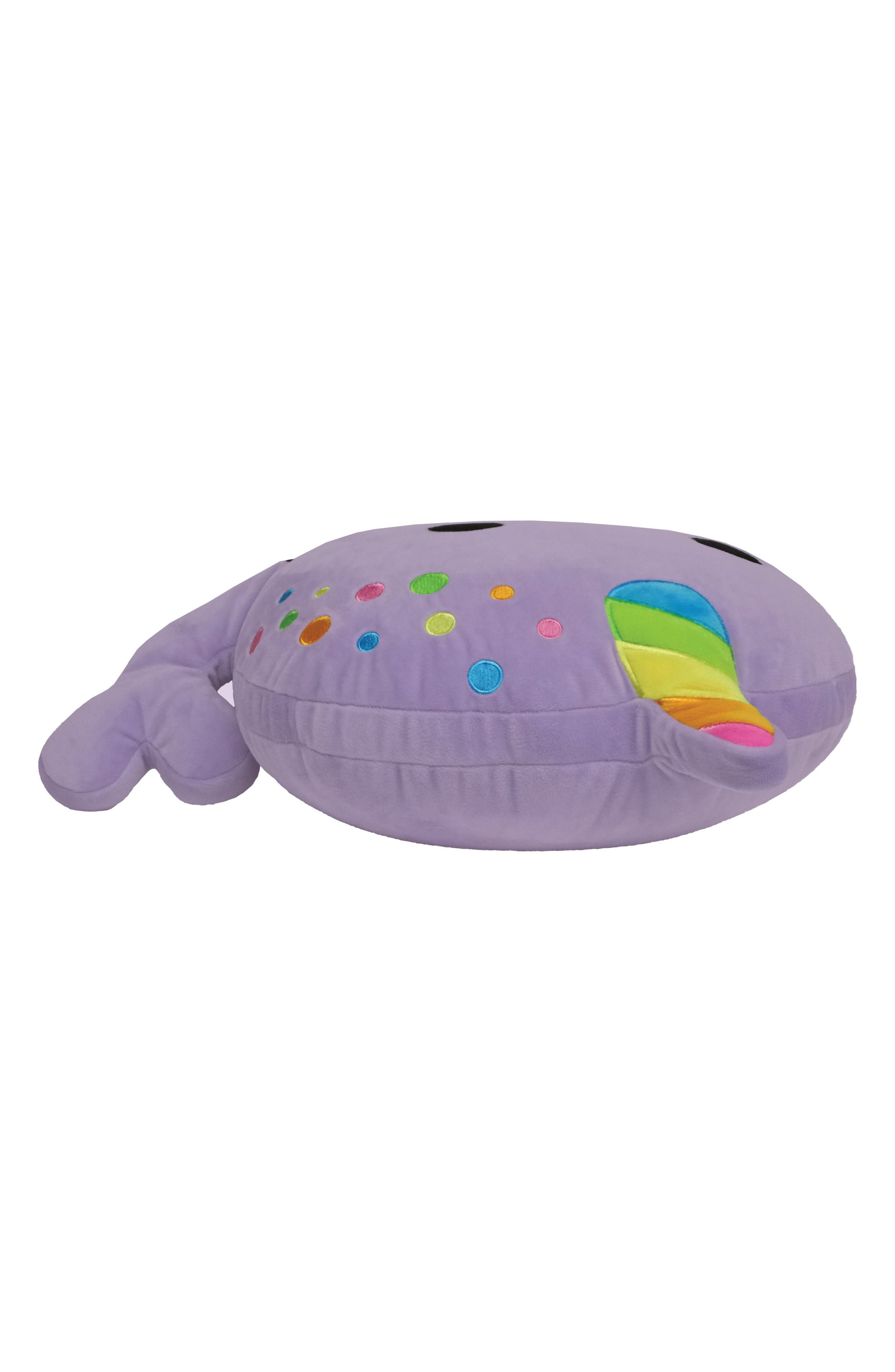 Scented Narwhal Pillow,                             Alternate thumbnail 3, color,                             Purple