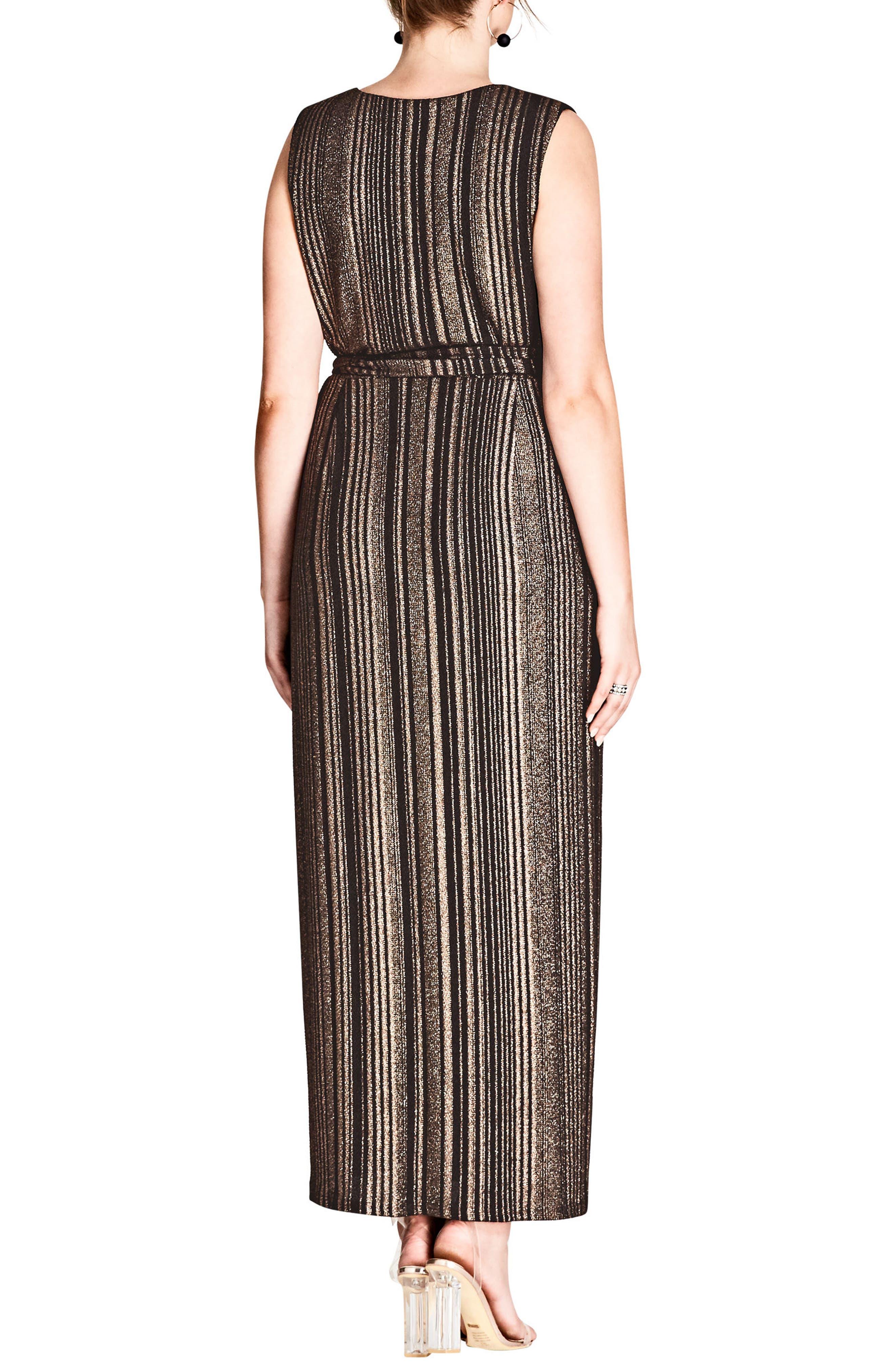 Cleo Wrap Maxi Dress,                             Alternate thumbnail 2, color,                             Black