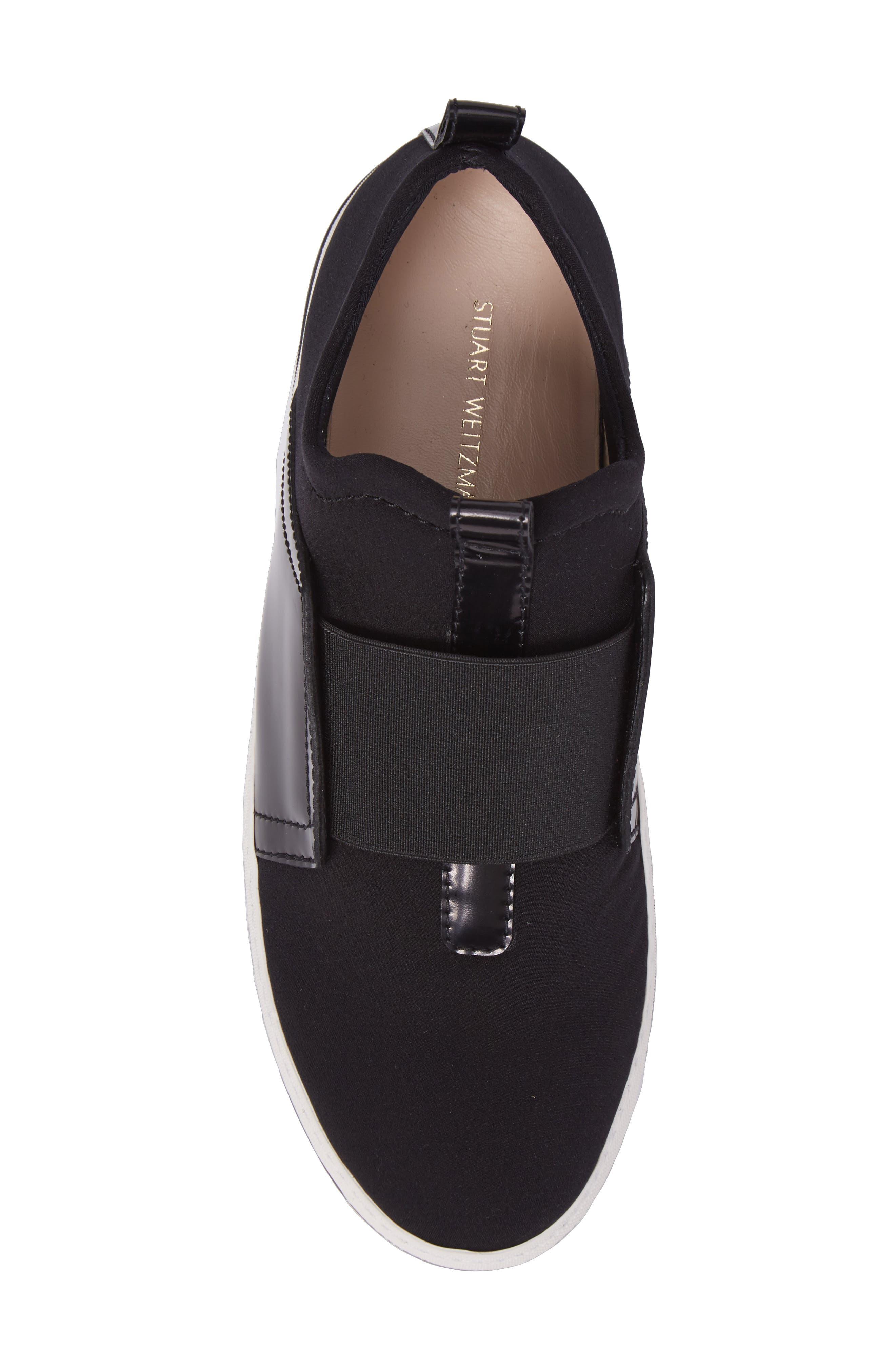 Wayfare Slip-On Sneaker,                             Alternate thumbnail 5, color,                             Black Neoprene