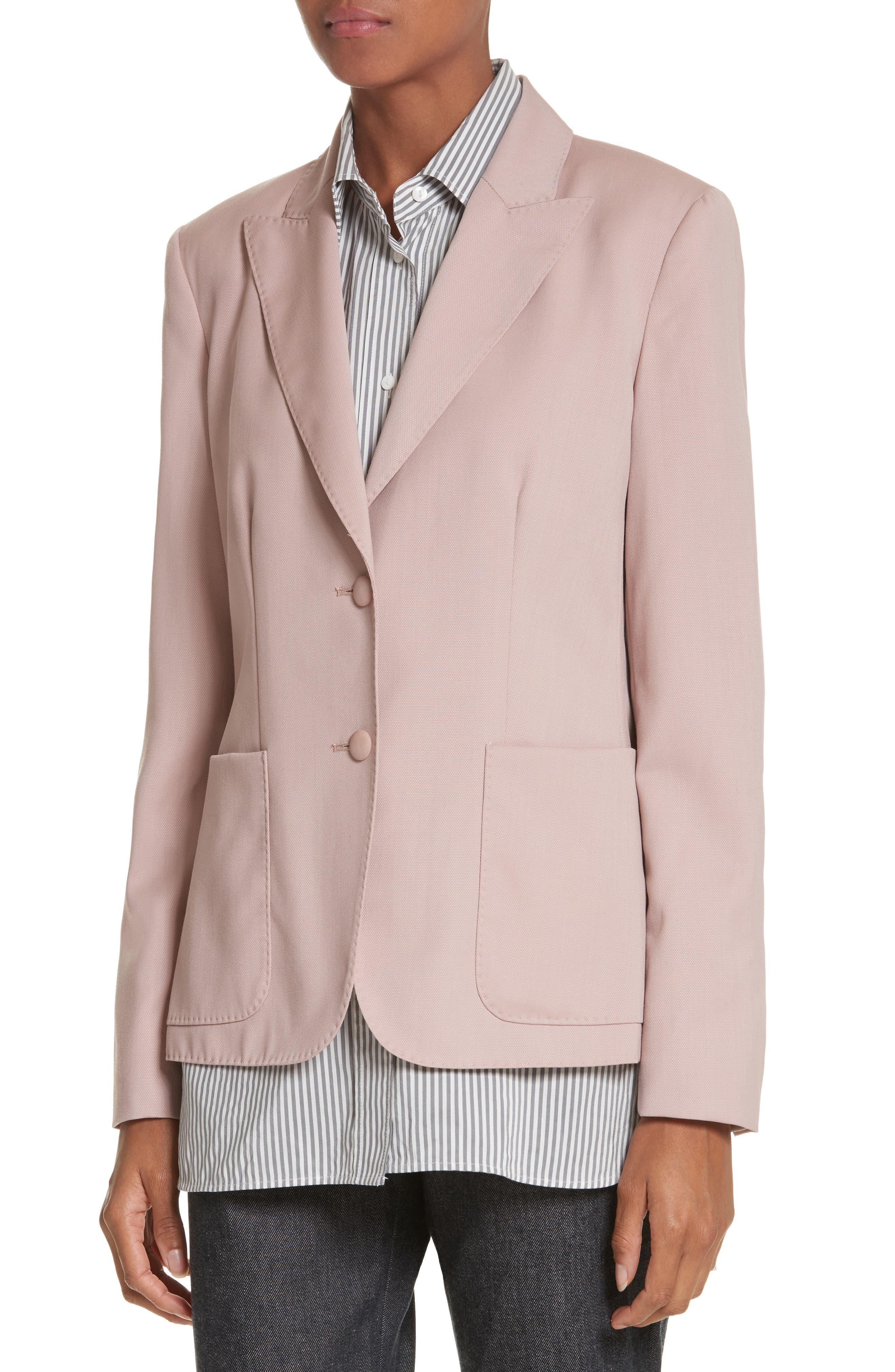 Panaro Wool Jacket,                             Alternate thumbnail 3, color,                             Blush