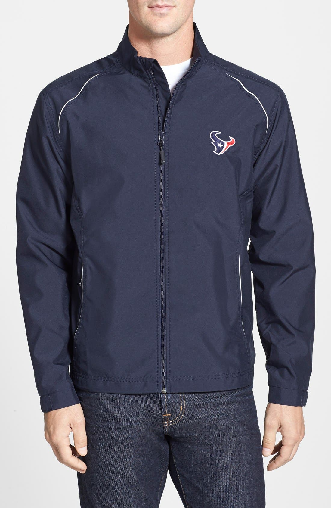 Alternate Image 1 Selected - Cutter & Buck Houston Texans - Beacon WeatherTec Wind & Water Resistant Jacket