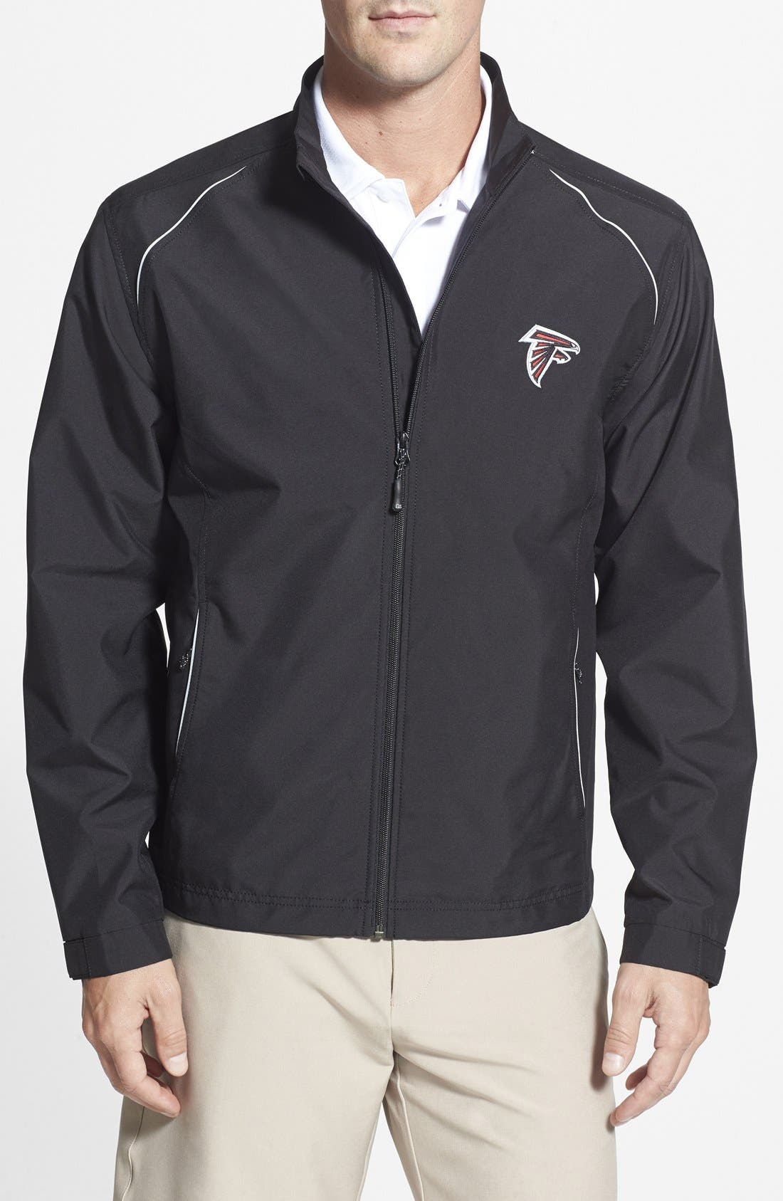 Atlanta Falcons - Beacon WeatherTec Wind & Water Resistant Jacket,                         Main,                         color, Black