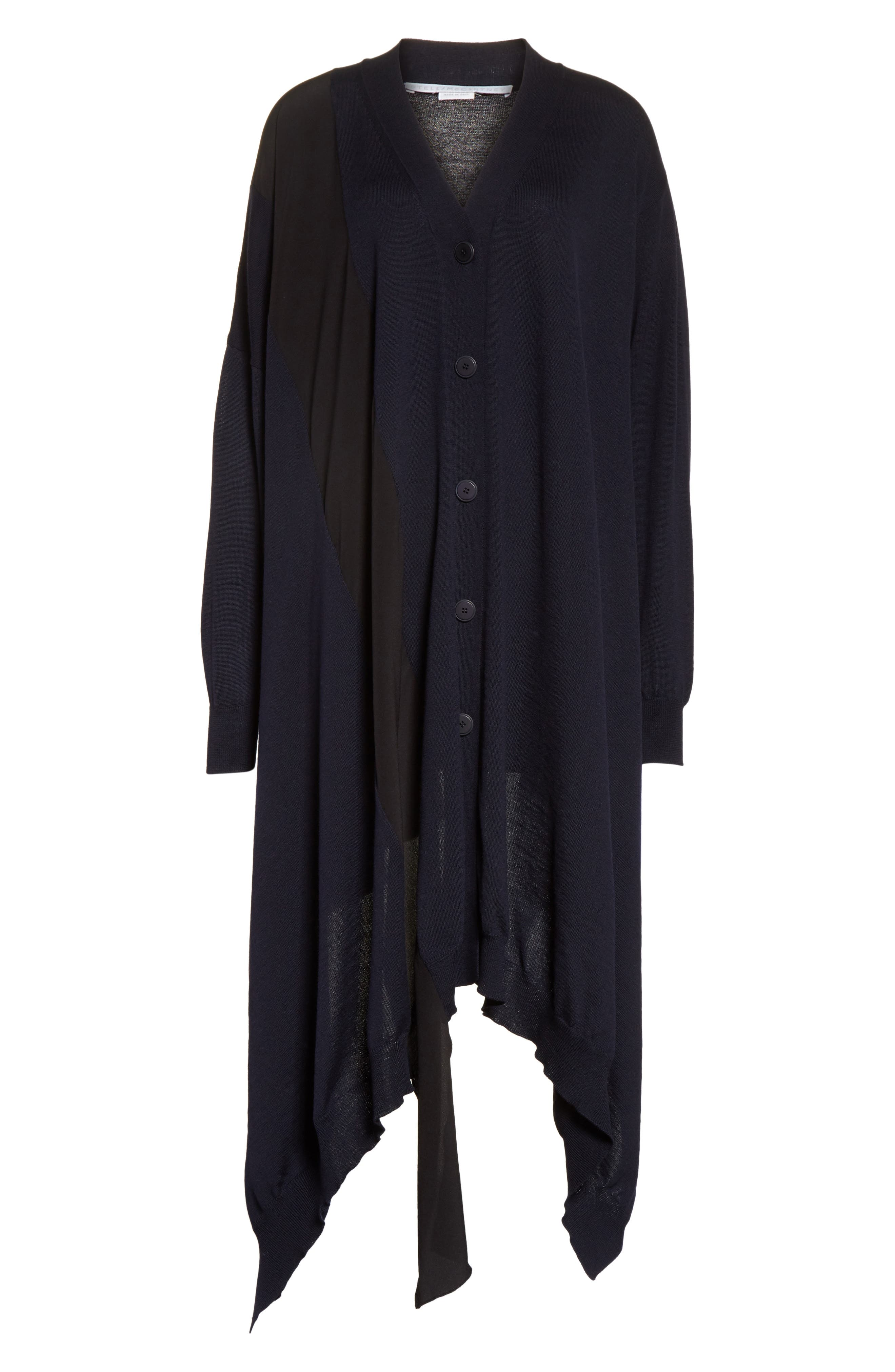 Alternate Image 6  - Stella McCartney Virgin Wool Cardigan with Silk Inset