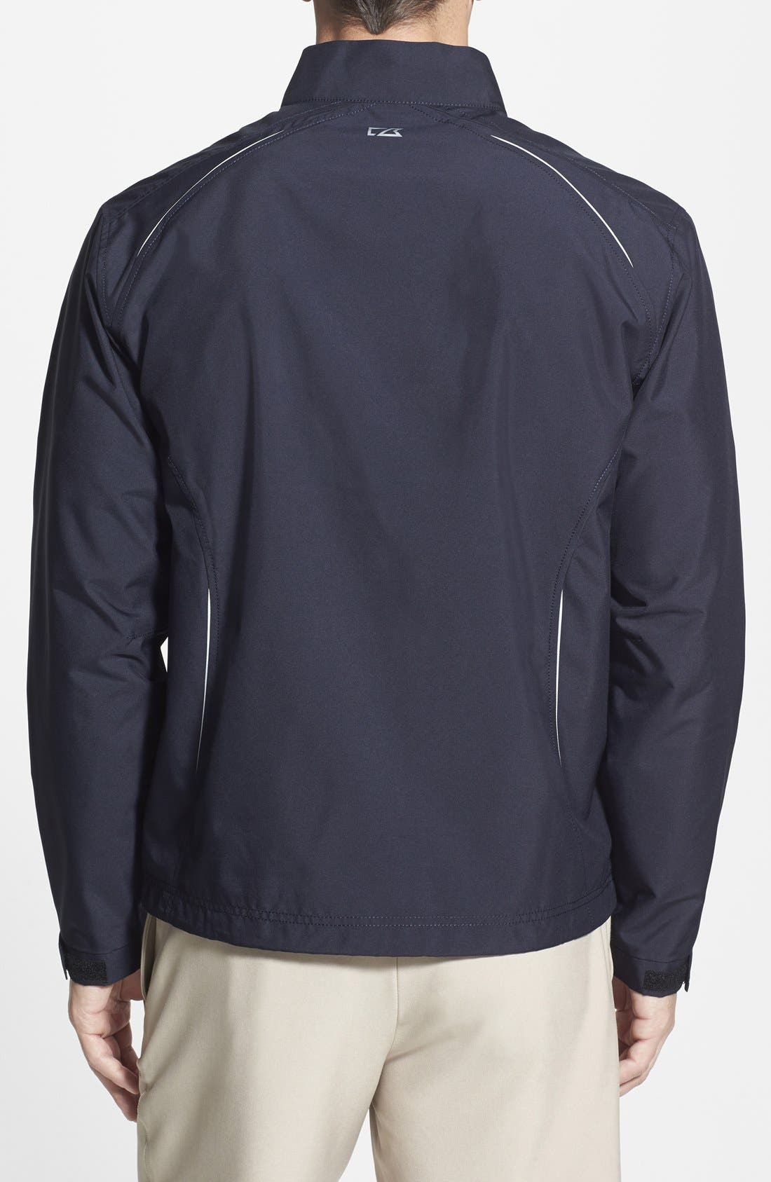 New England Patriots - Beacon WeatherTec Wind & Water Resistant Jacket,                             Alternate thumbnail 2, color,                             Navy Blue