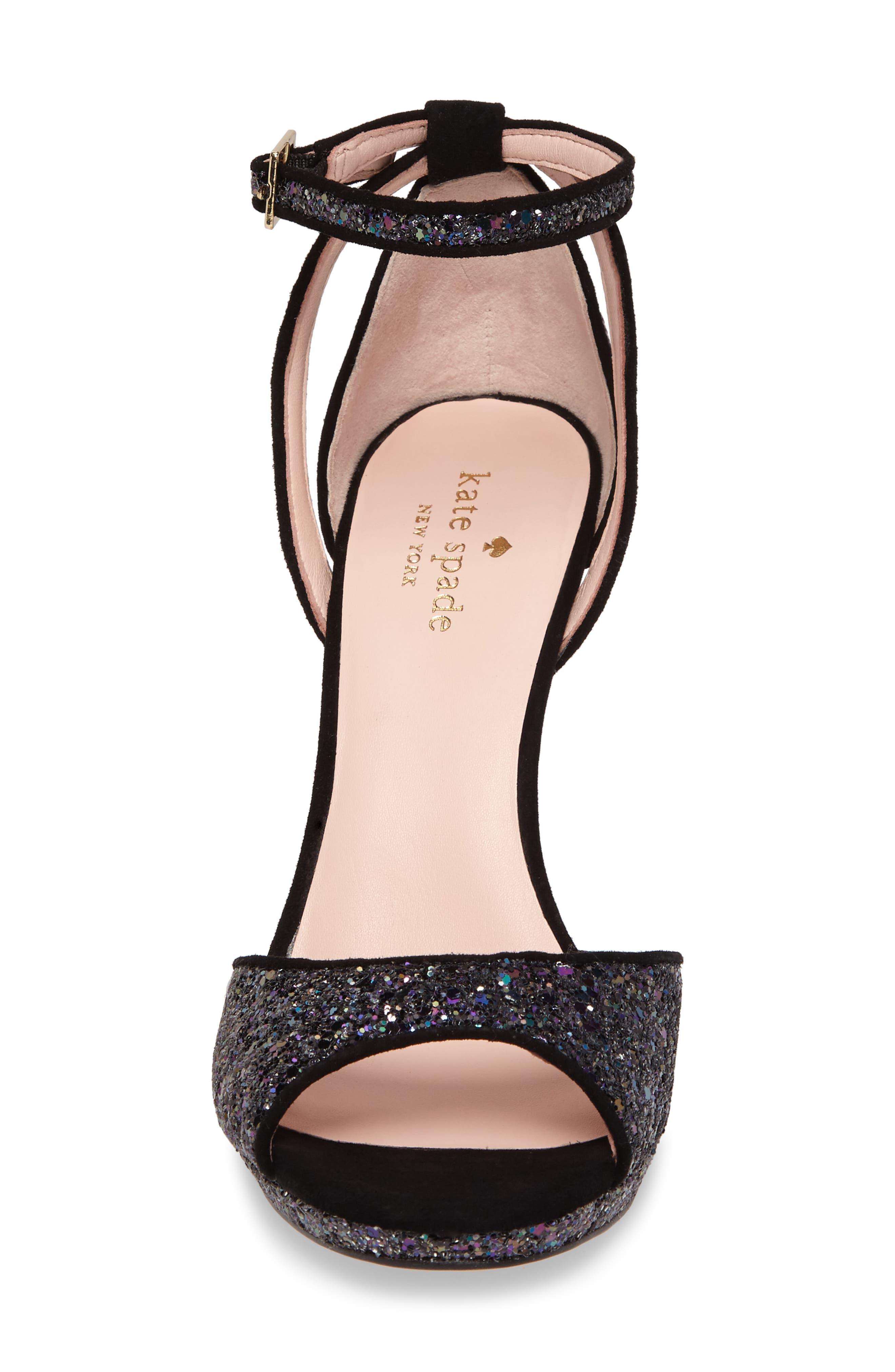 kate spade franklin sandal,                             Alternate thumbnail 4, color,                             Midnight Glitter
