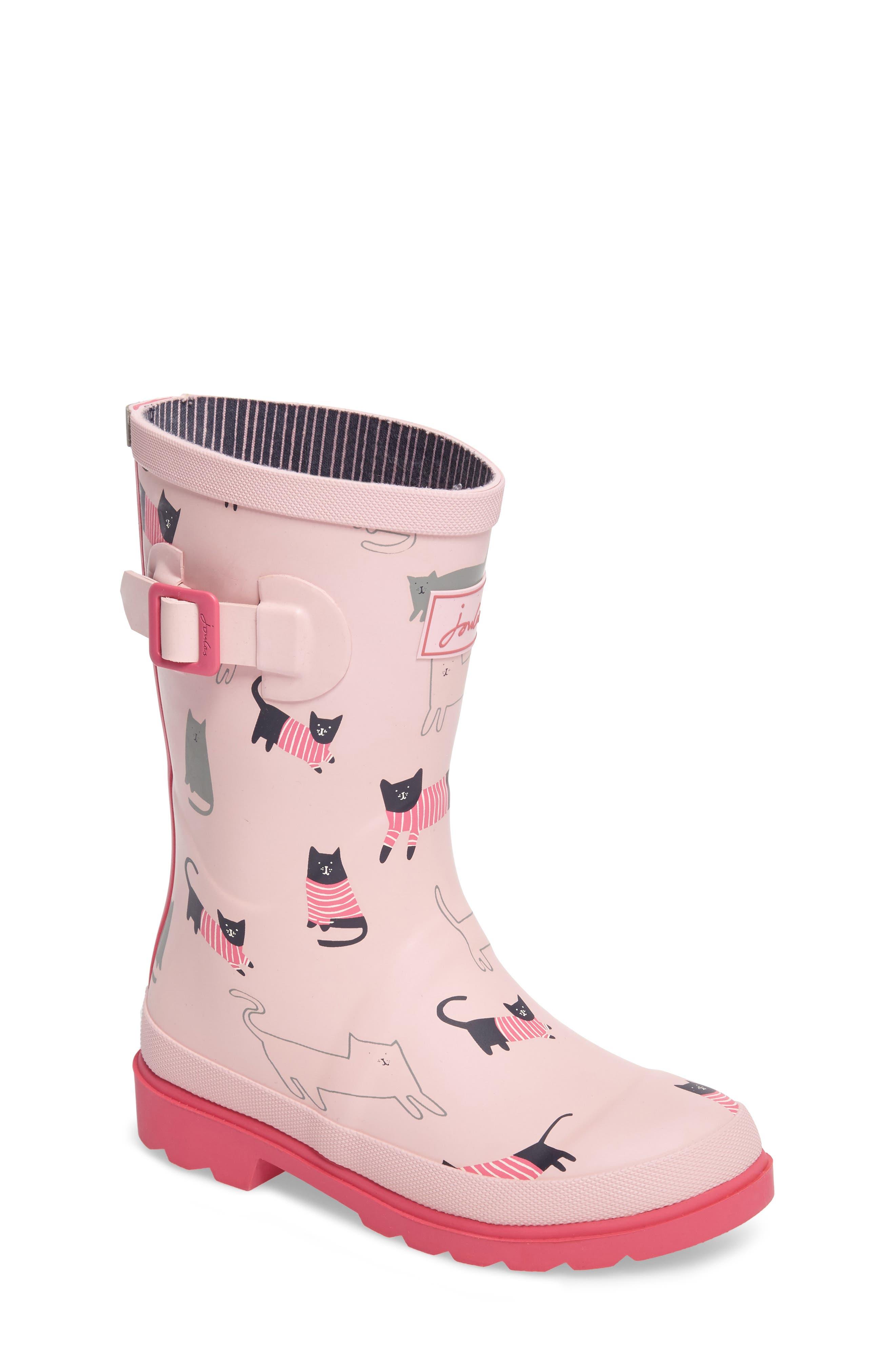 Joules Welly Printed Waterproof Rain Boot (Toddler, Little Kid & Big Kid)