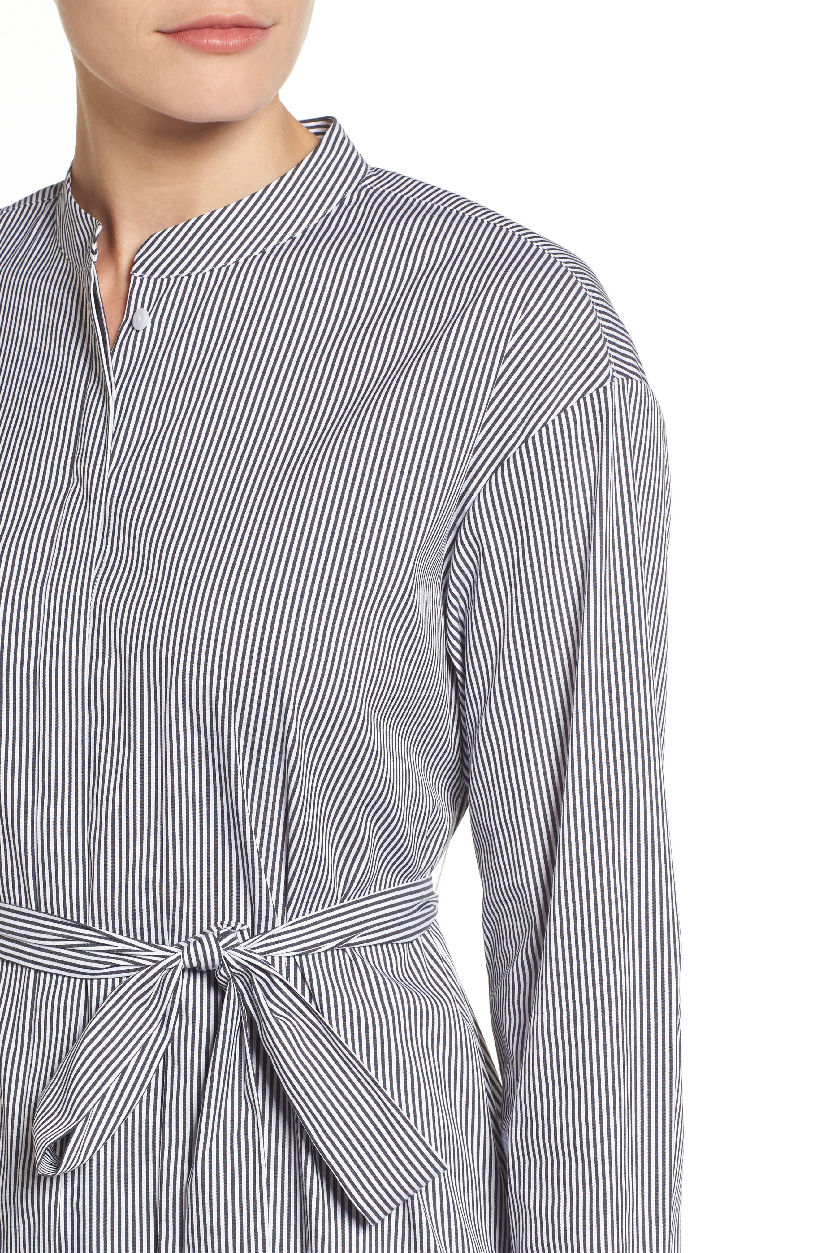 Alternate Image 4  - Halogen® Belted Poplin Shirt (Regular & Petite)