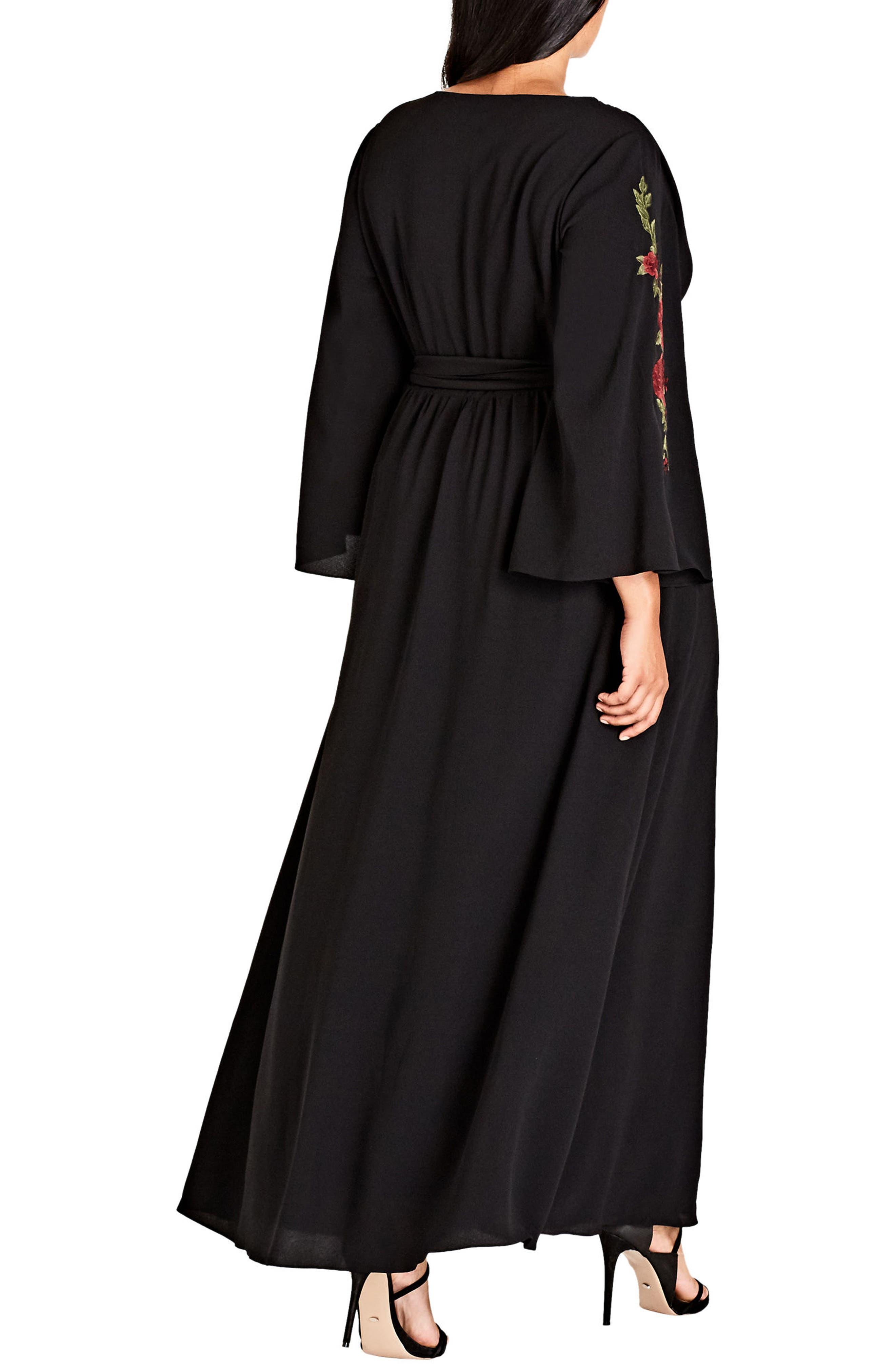 Adorned Maxi Dress,                             Alternate thumbnail 2, color,                             Black