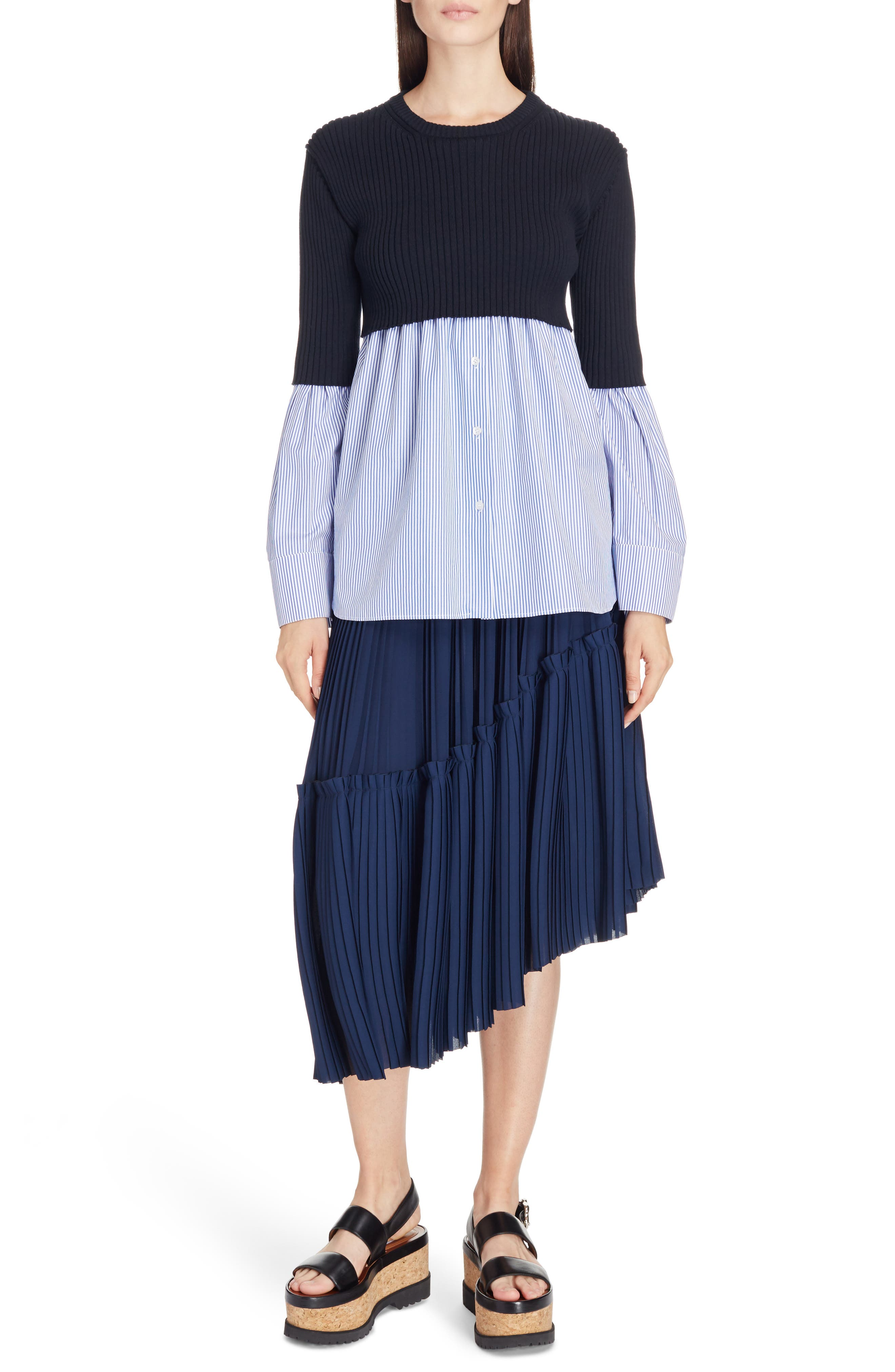 Alternate Image 3  - KENZO Asymmetrical Pleated Midi Skirt