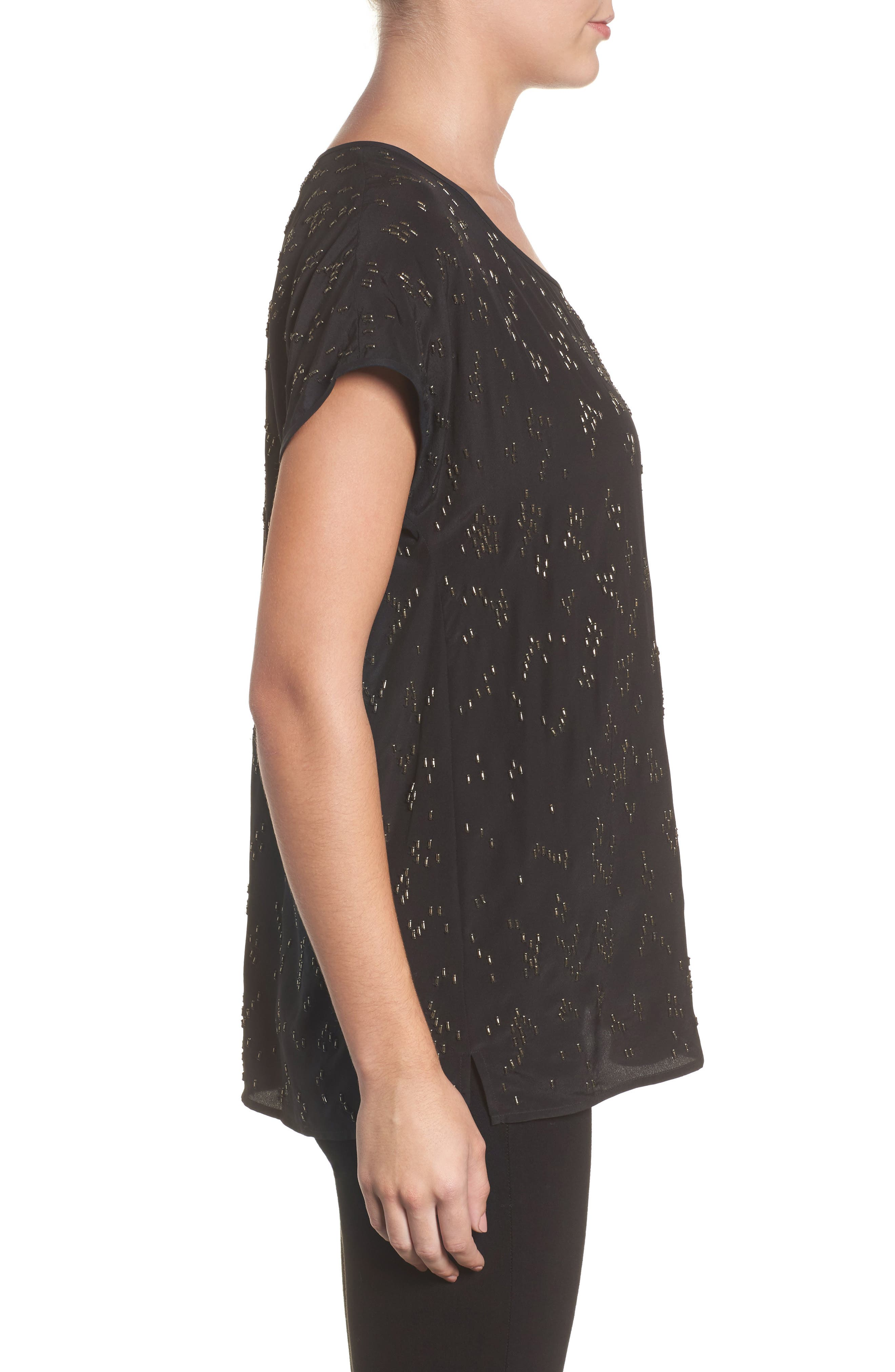 Alternate Image 3  - Eileen Fisher Beaded Silk Top