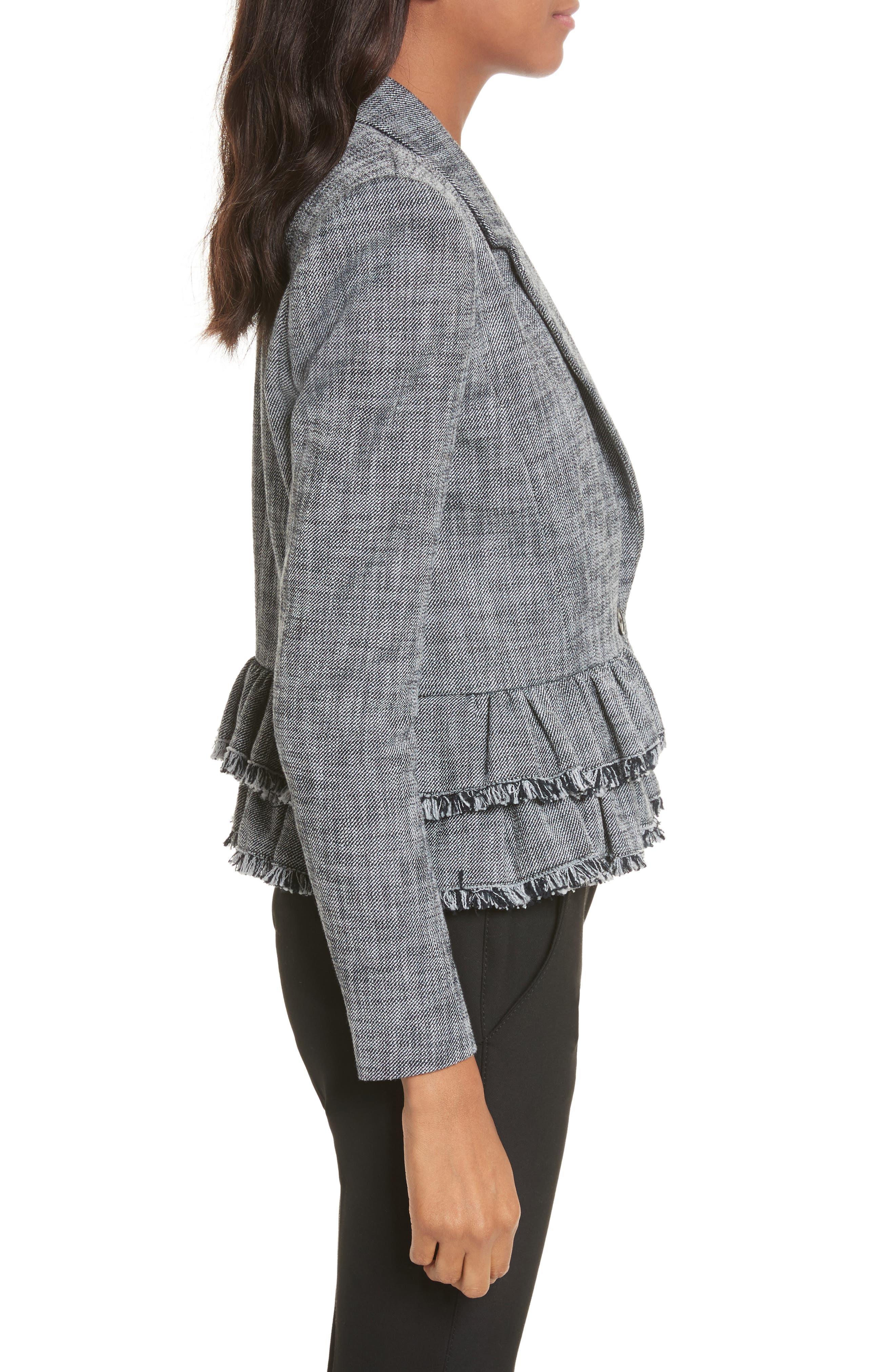 Alternate Image 3  - Rebecca Taylor Slub Suiting Jacket
