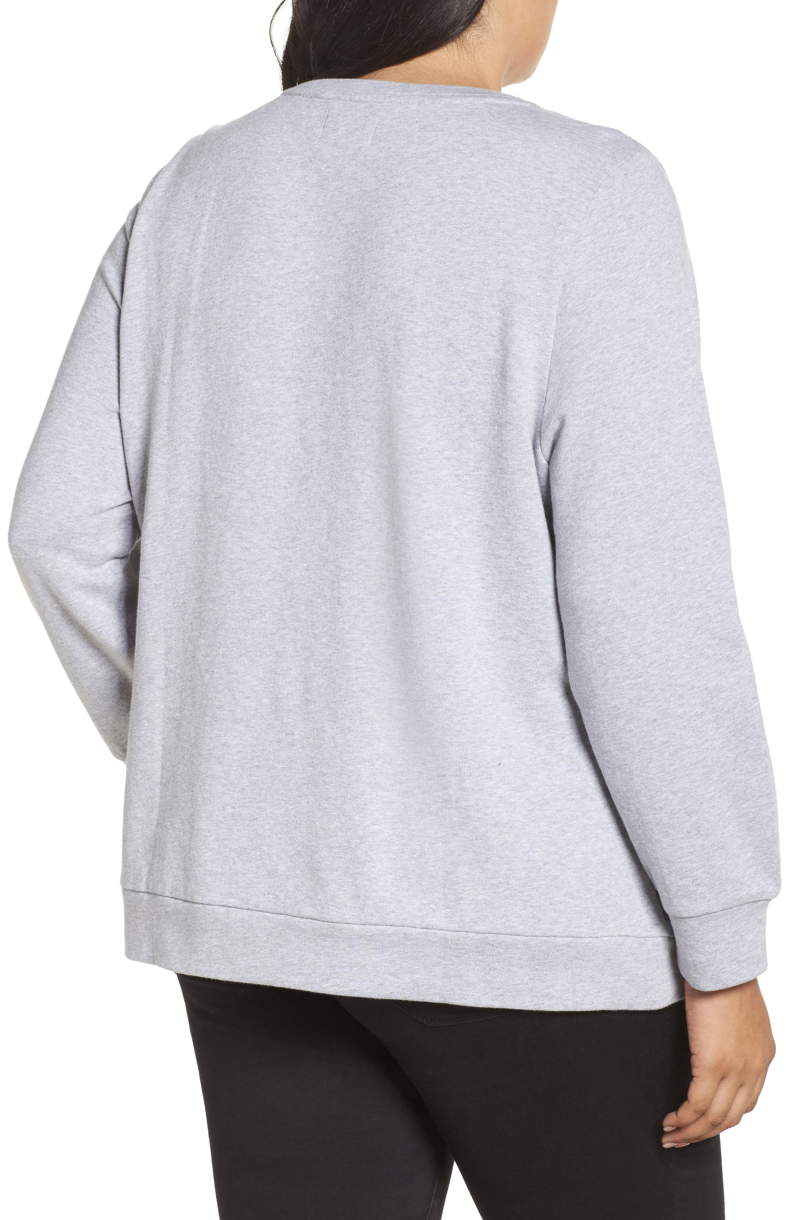 Patchwork Sweatshirt,                             Alternate thumbnail 2, color,                             Grey Floral