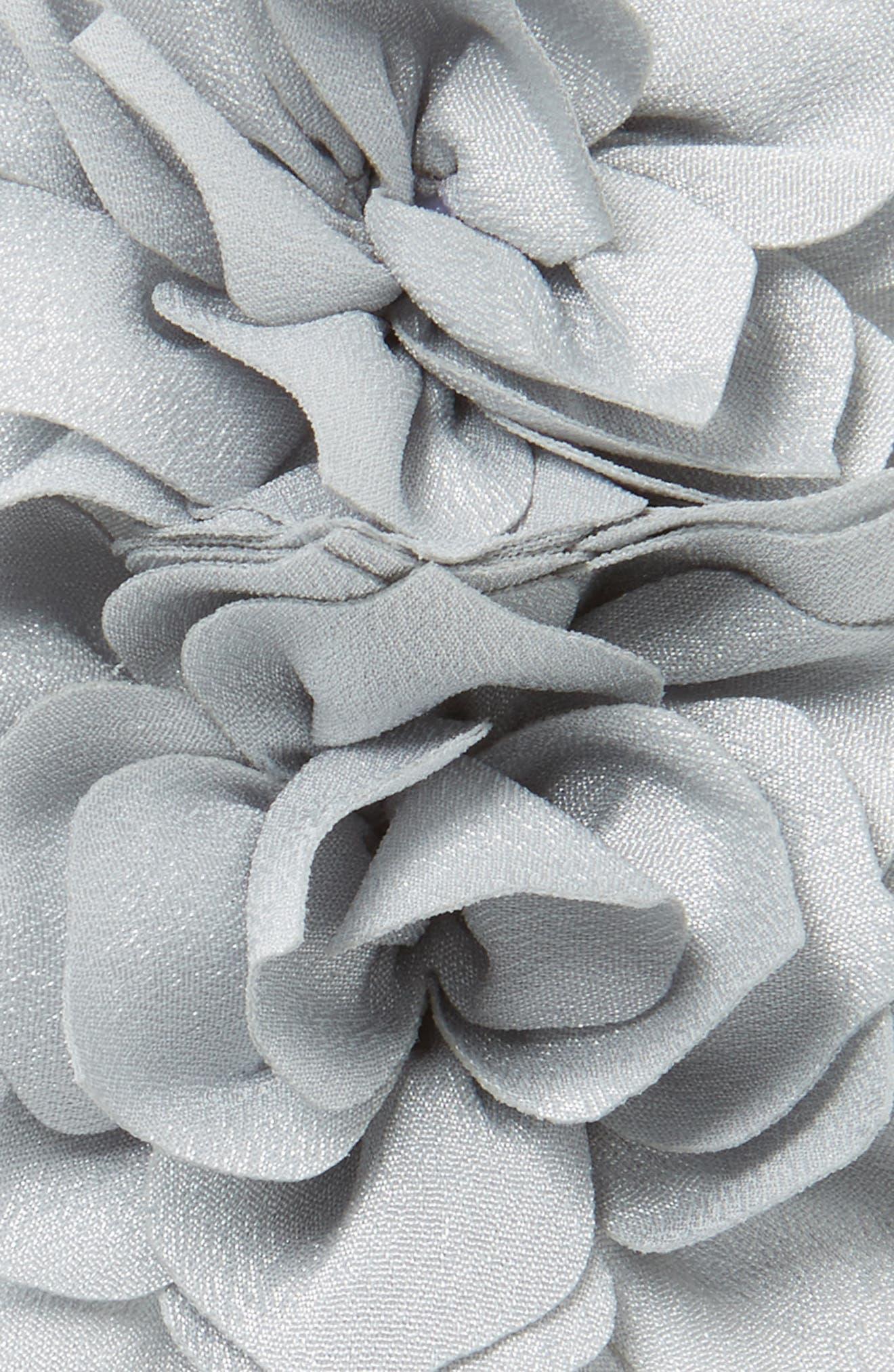 Alternate Image 2  - Baby Bling Holiday Poinsettia Flower Headband (Baby Girls)