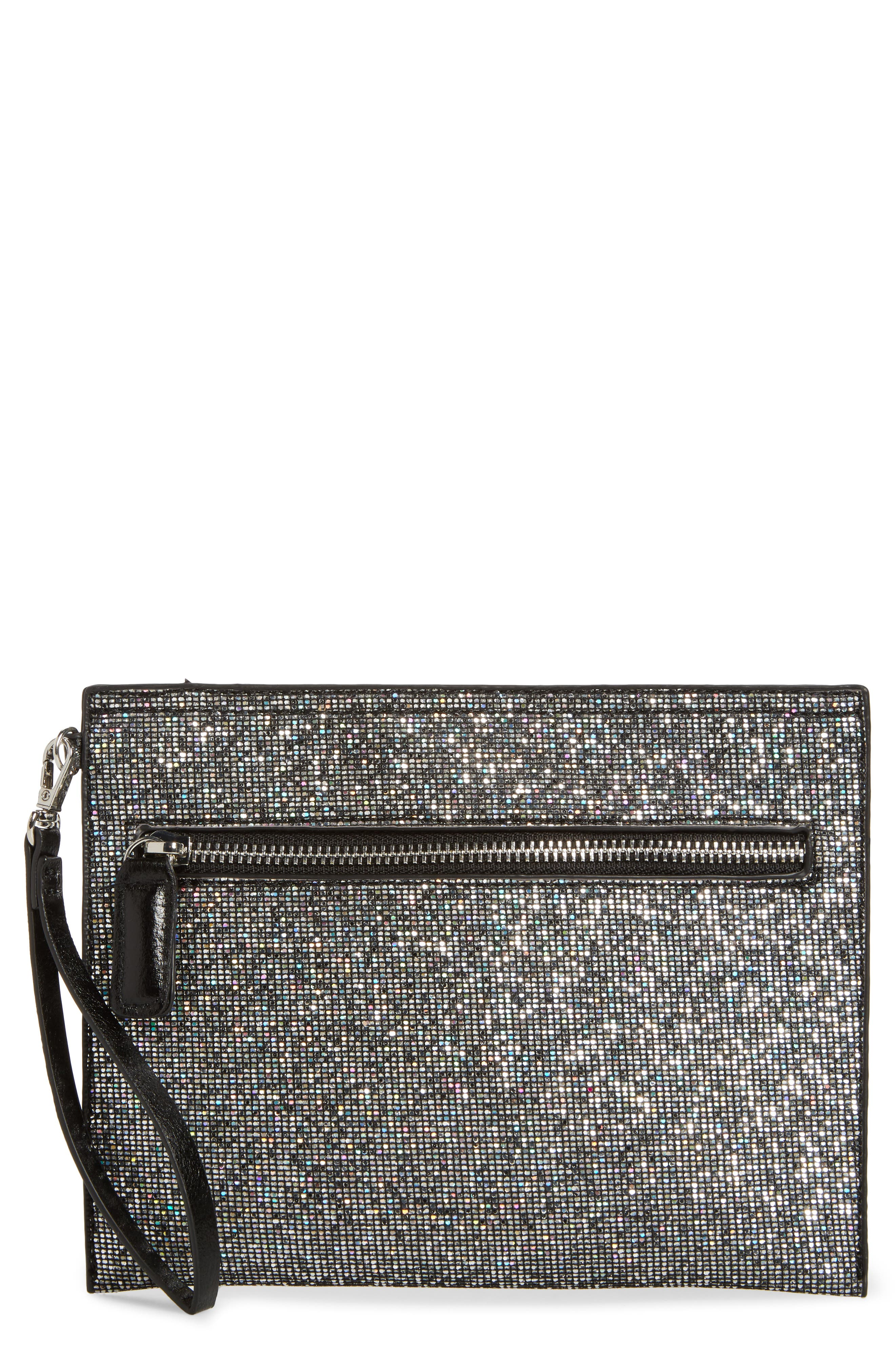 Street Level Embellished Wristlet