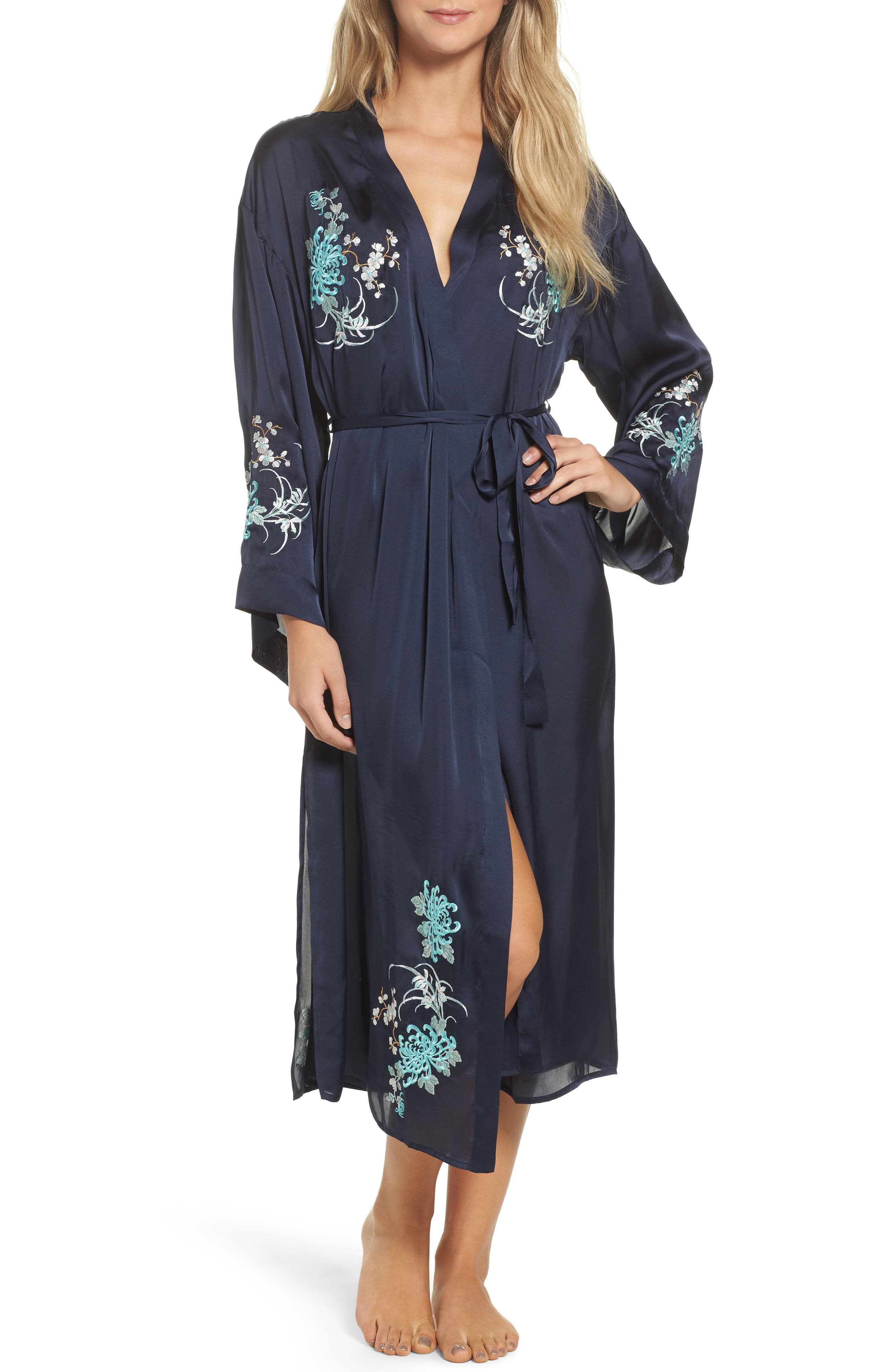 Main Image - Chelsea28 Embroidered Long Robe