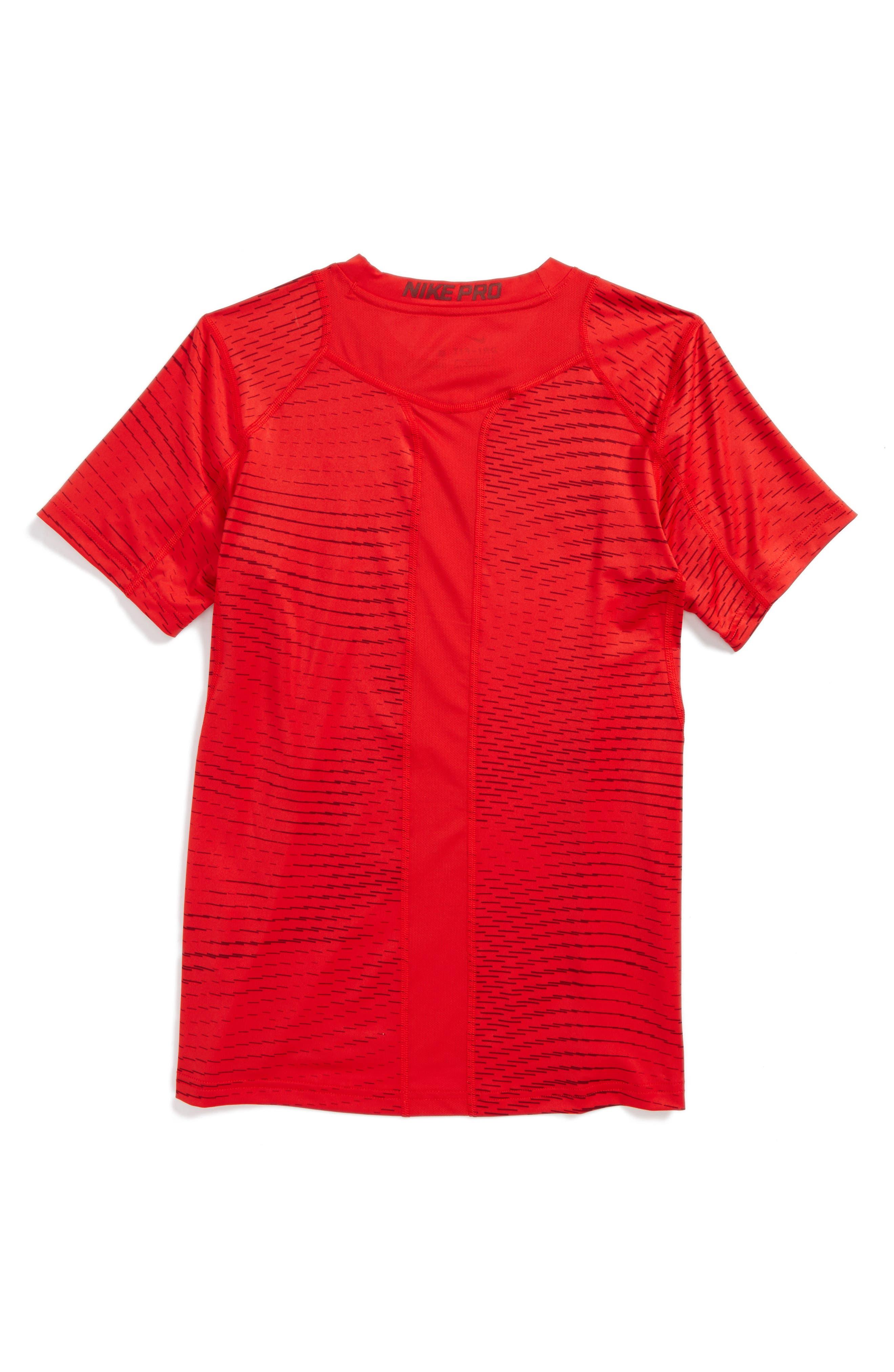 Alternate Image 2  - Nike Pro Dry Fitted Logo T-Shirt (Little Boys & Big Boys)