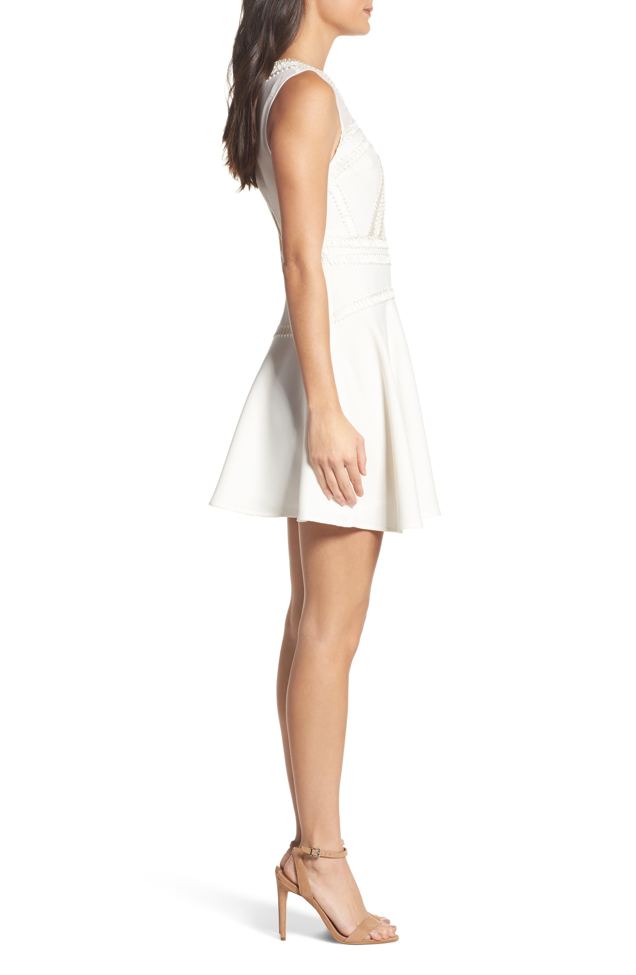Alternate Image 3  - Foxiedox Aviana Fit & Flare Dress