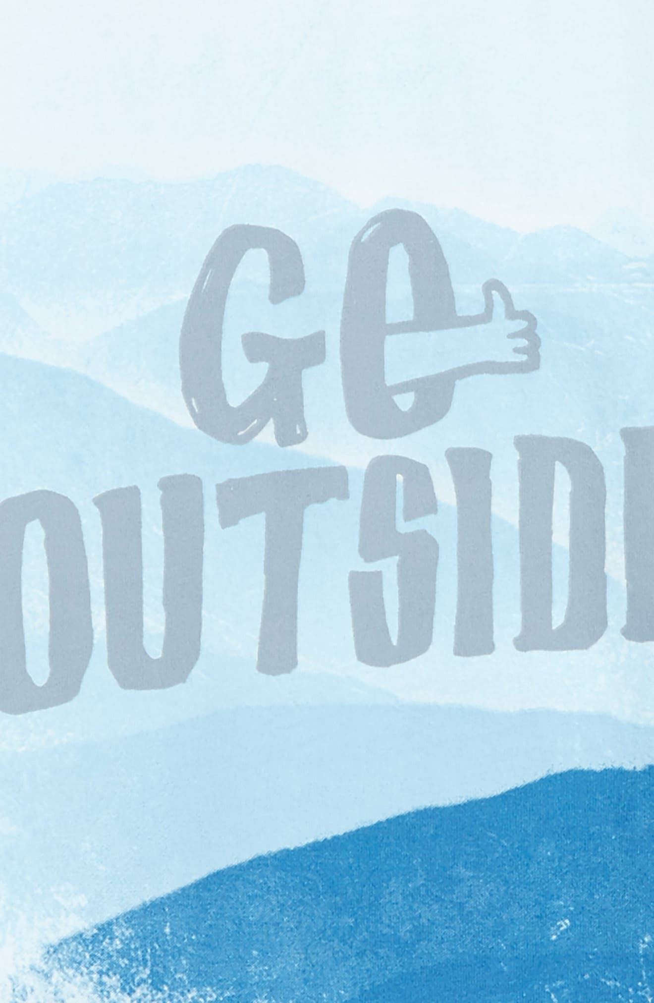 Go Outside Graphic Long Sleeve T-Shirt,                             Alternate thumbnail 2, color,                             Ivory