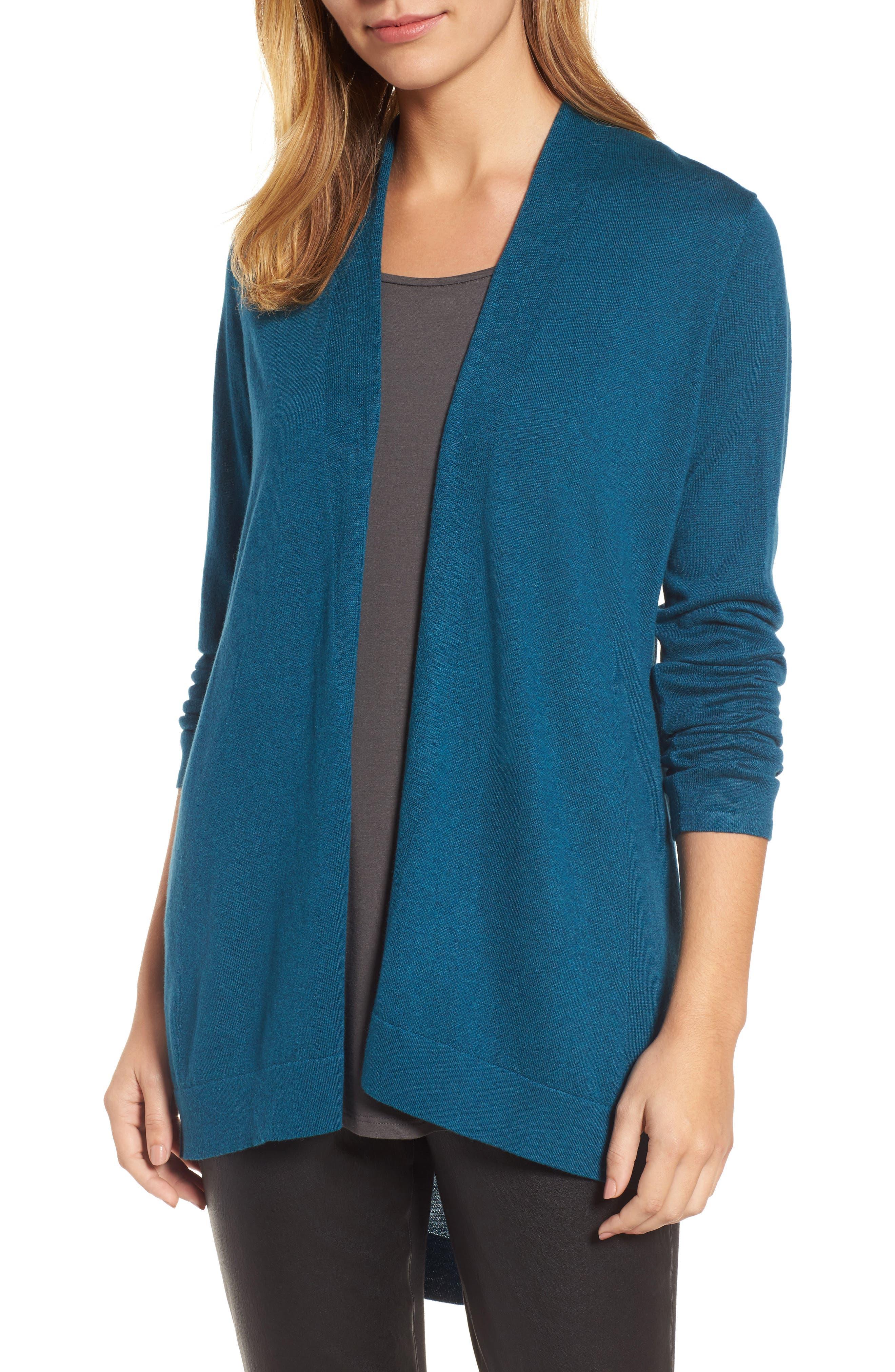 Eileen Fisher Shaped Tencel® Blend Cardigan