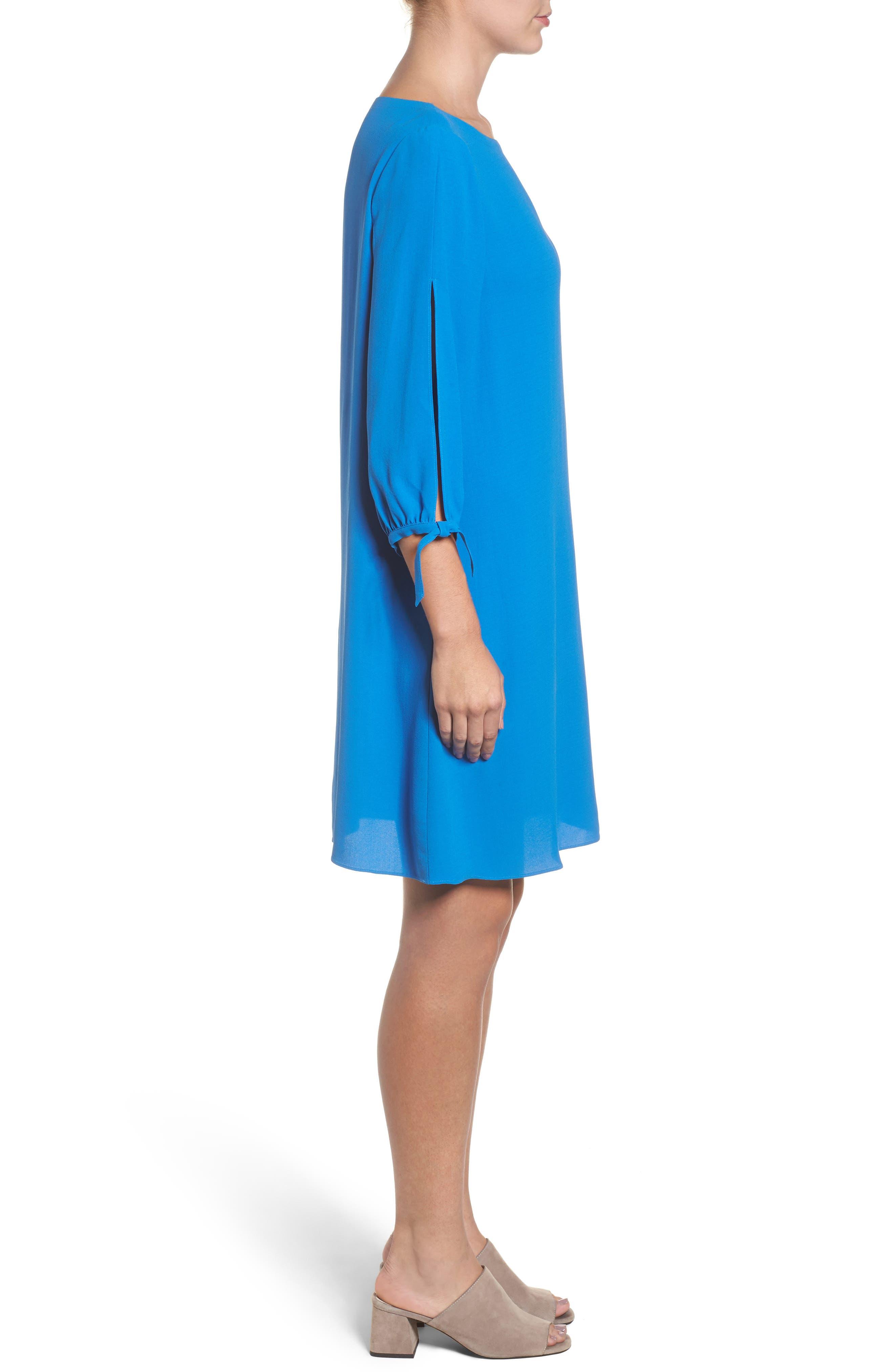 Alternate Image 3  - Eileen Fisher Silk Shift Dress (Regular & Petite)
