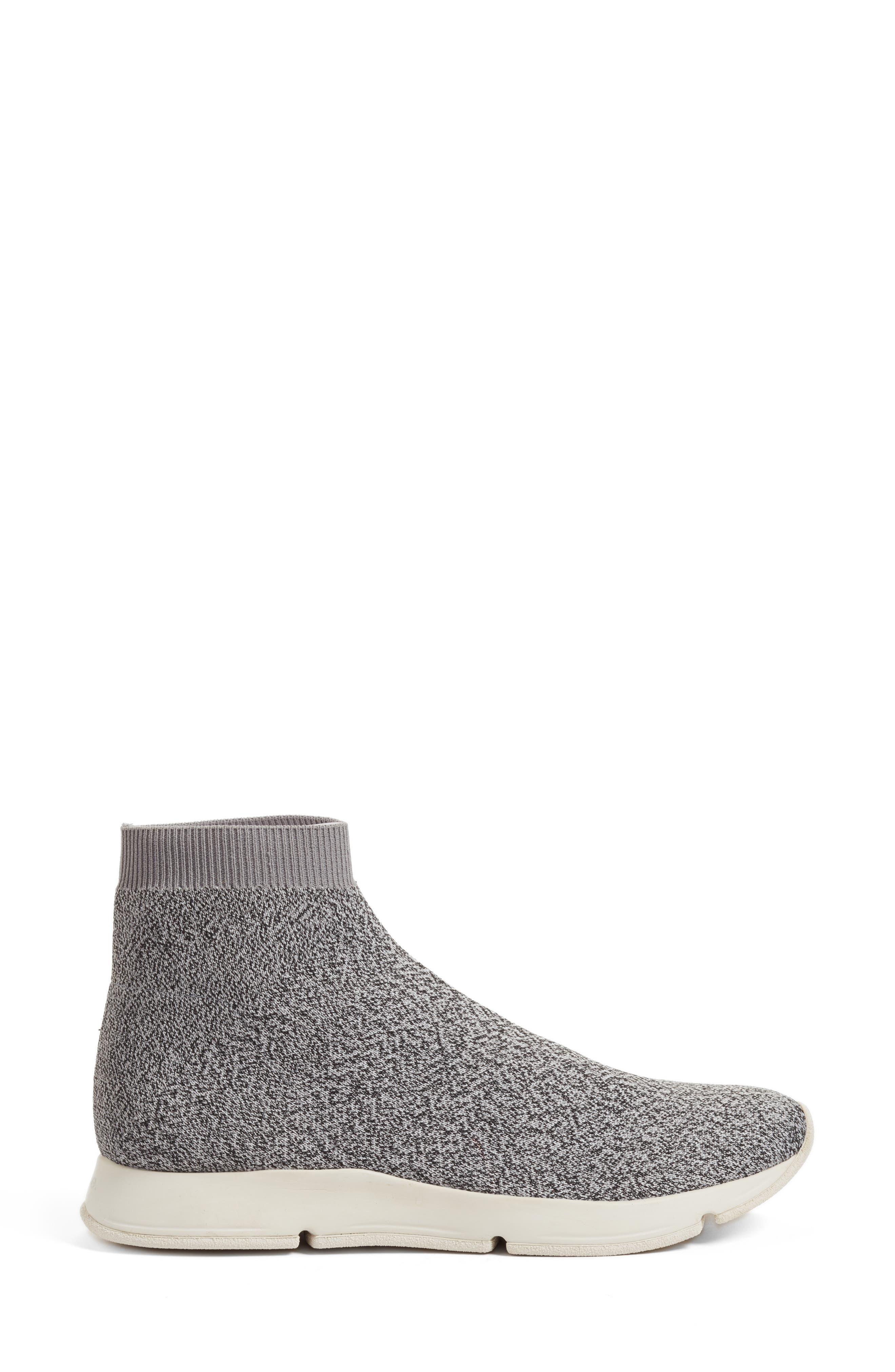 Tyra Sock Sneaker,                             Alternate thumbnail 3, color,                             Grey Marl