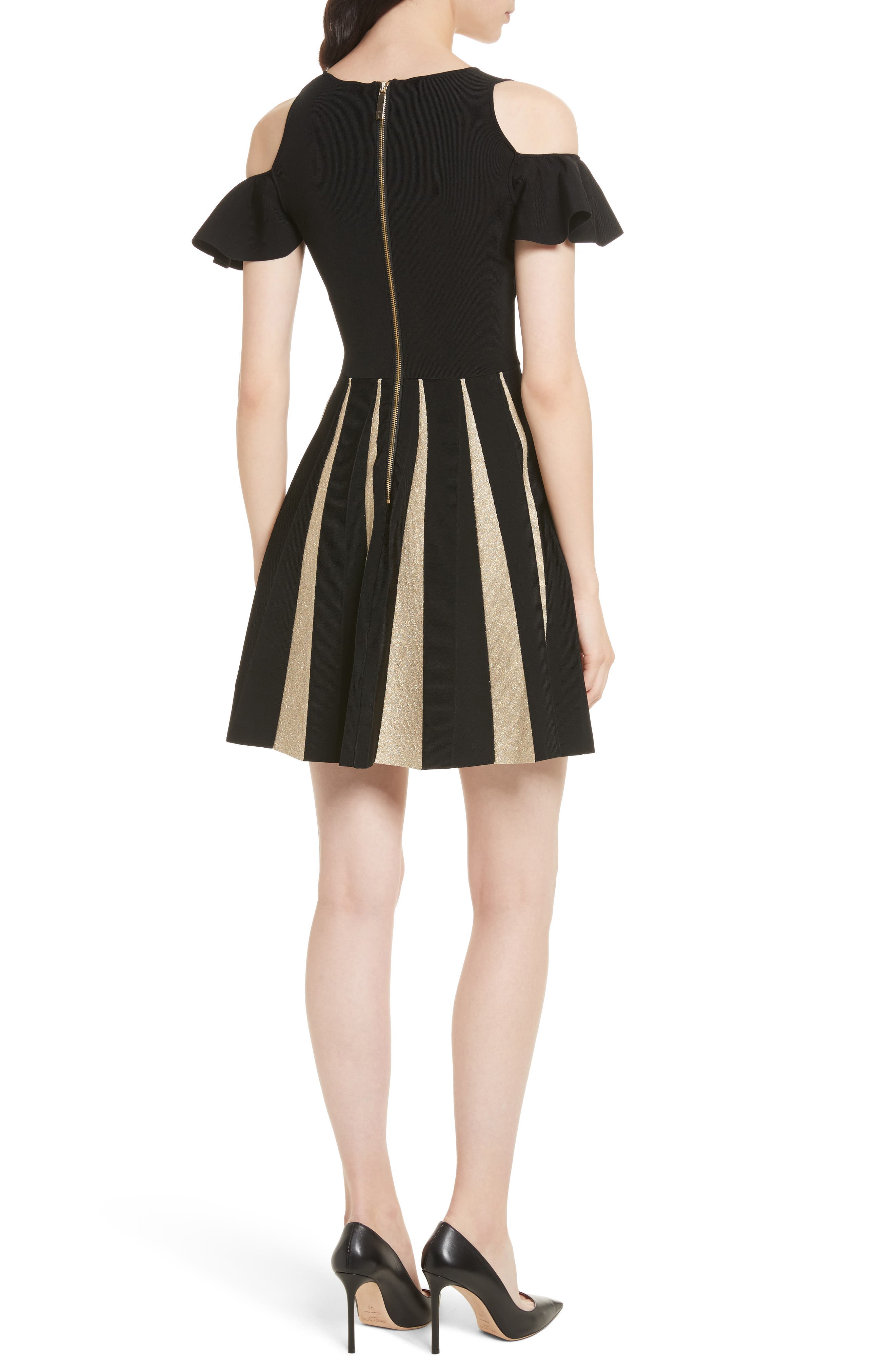 Alternate Image 2  - Ted Baker London Flippy Cold Shoulder Skater Dress