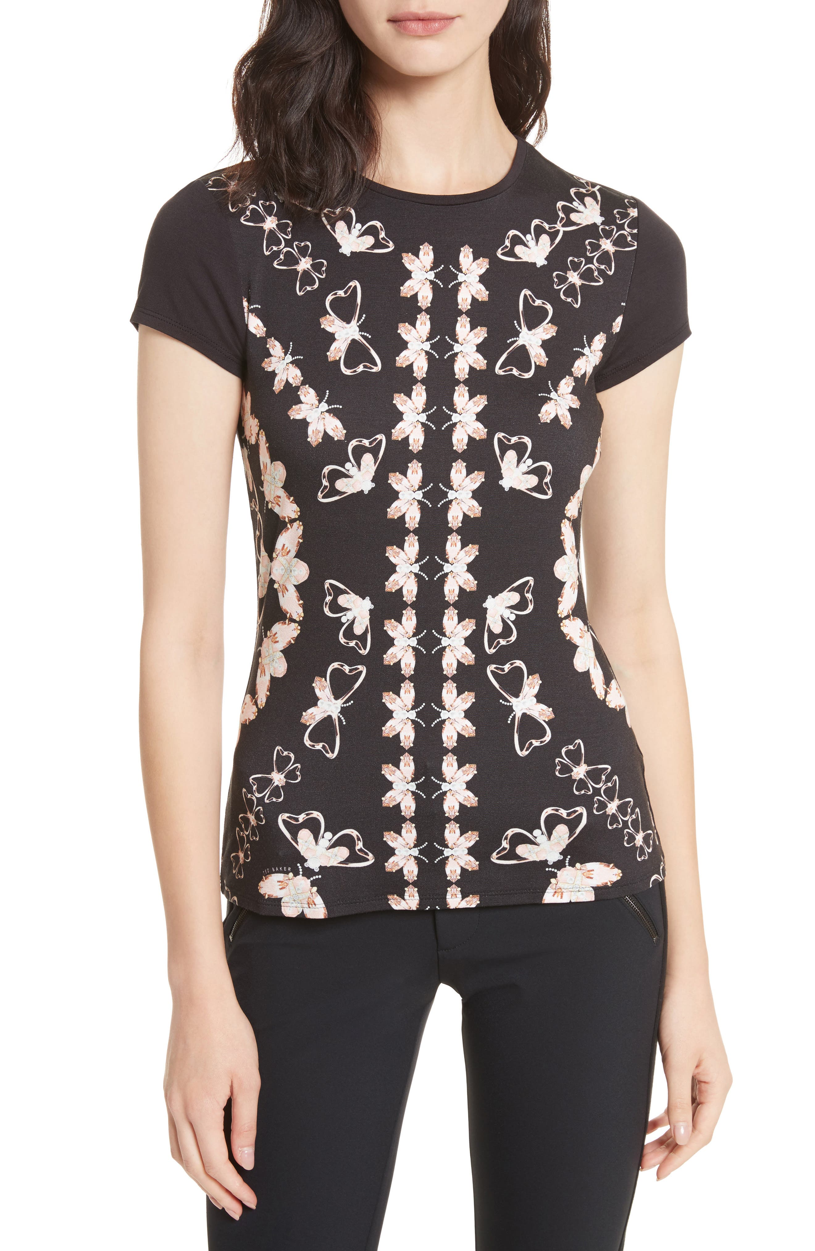 Ted Baker London Queen Bee Fitted Tee